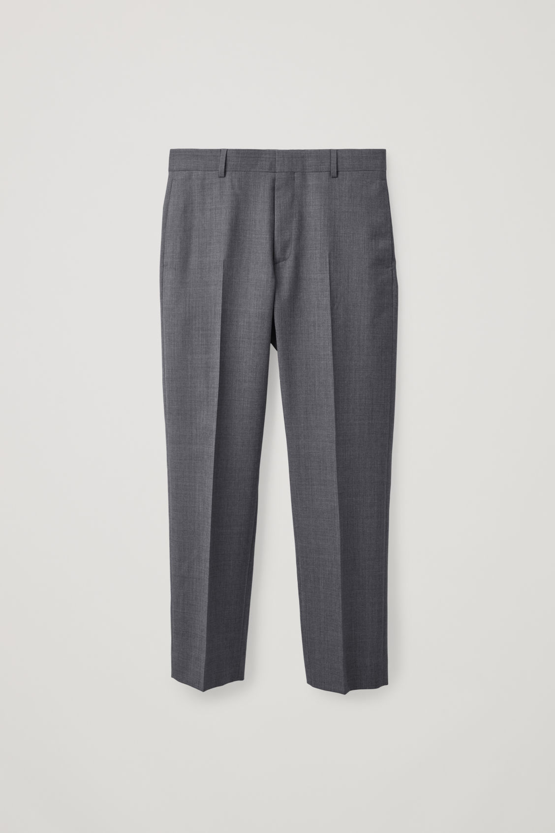Front image of Cos slim-fit tailored trousers  in grey