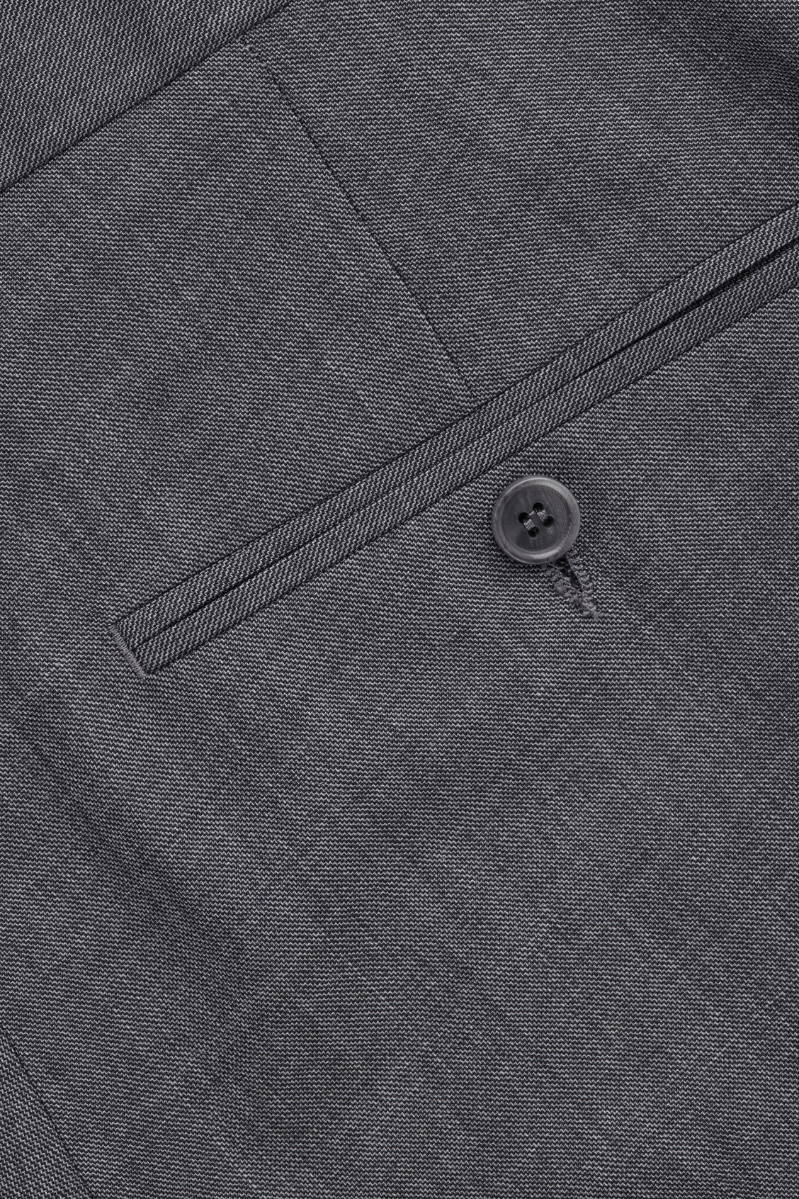 Side image of Cos slim-fit tailored trousers  in grey