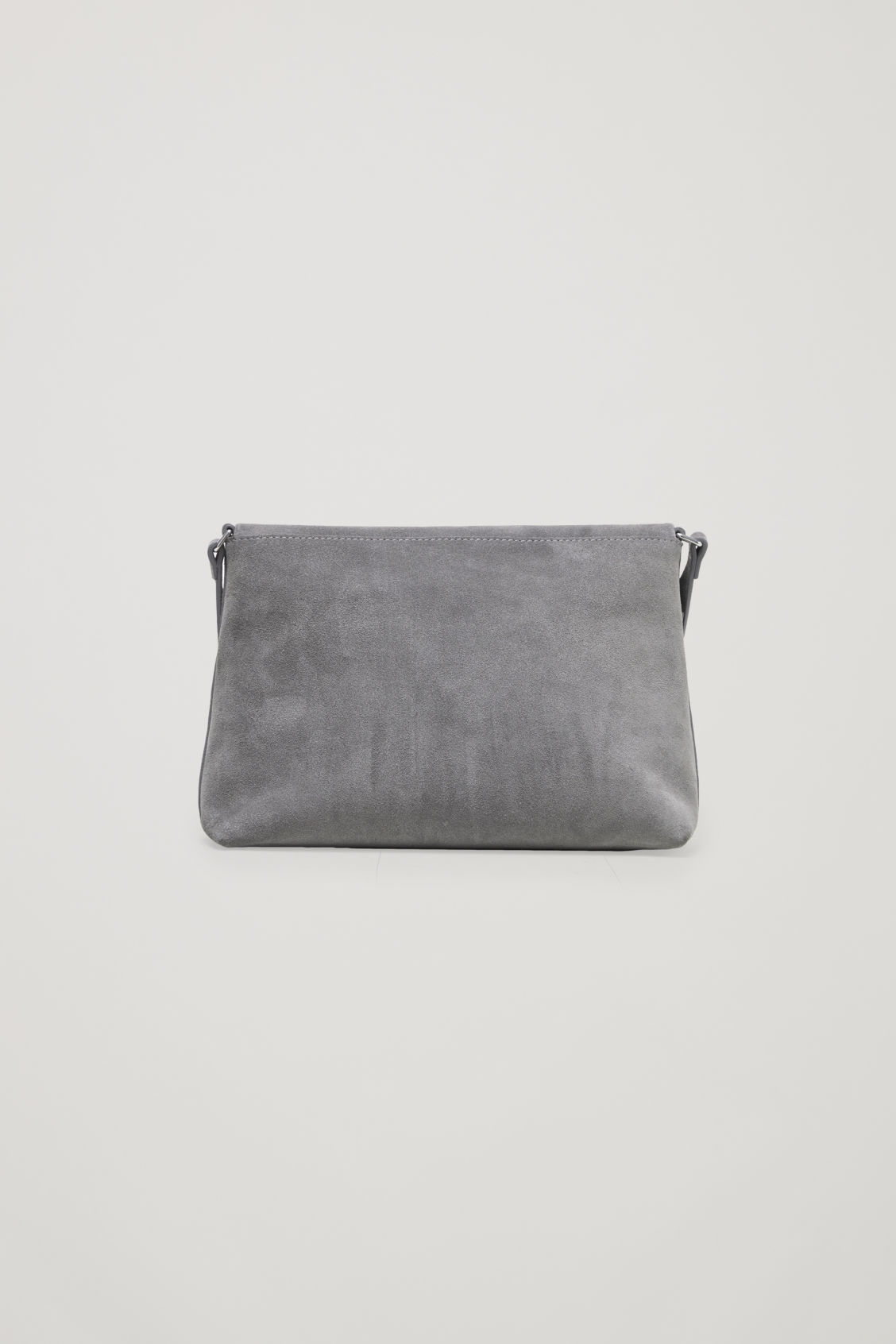 Side image of Cos small soft-leather shoulder bag in grey