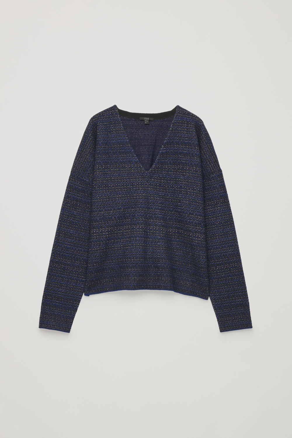 JACQUARD BOILED-WOOL JUMPER