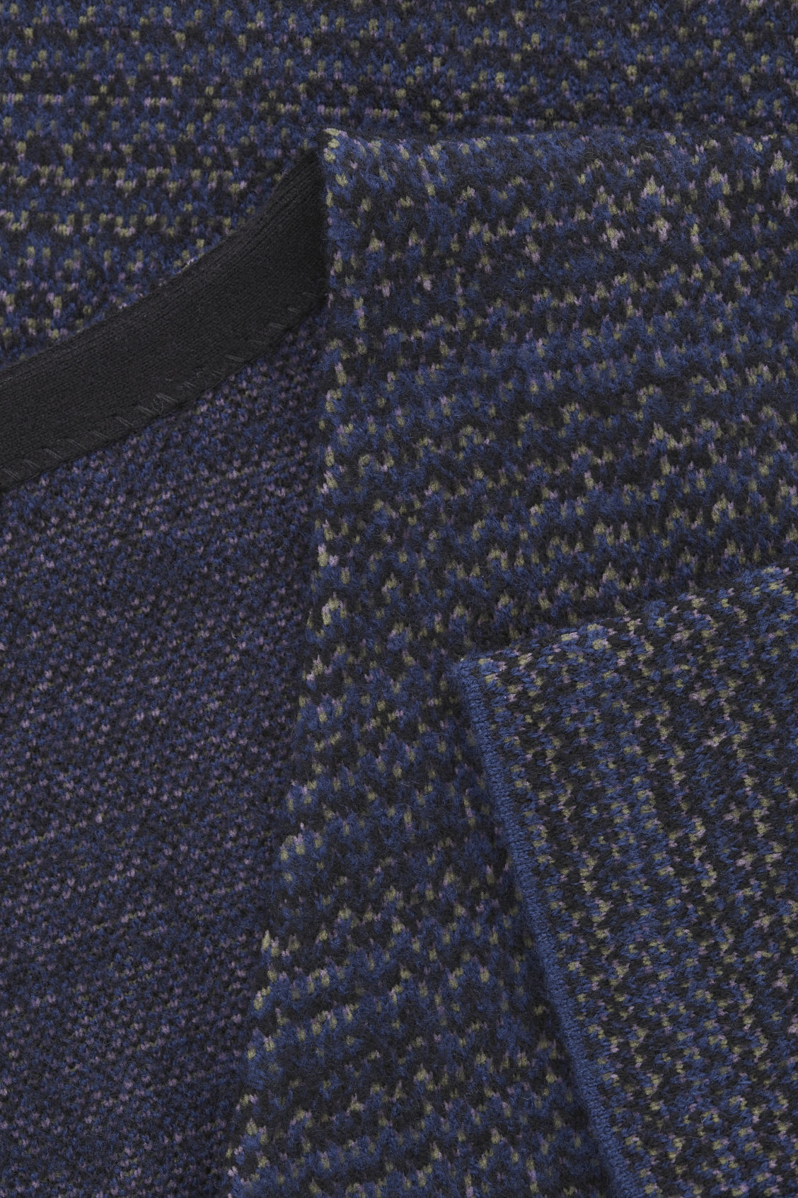 Side image of Cos jacquard boiled-wool jumper in blue