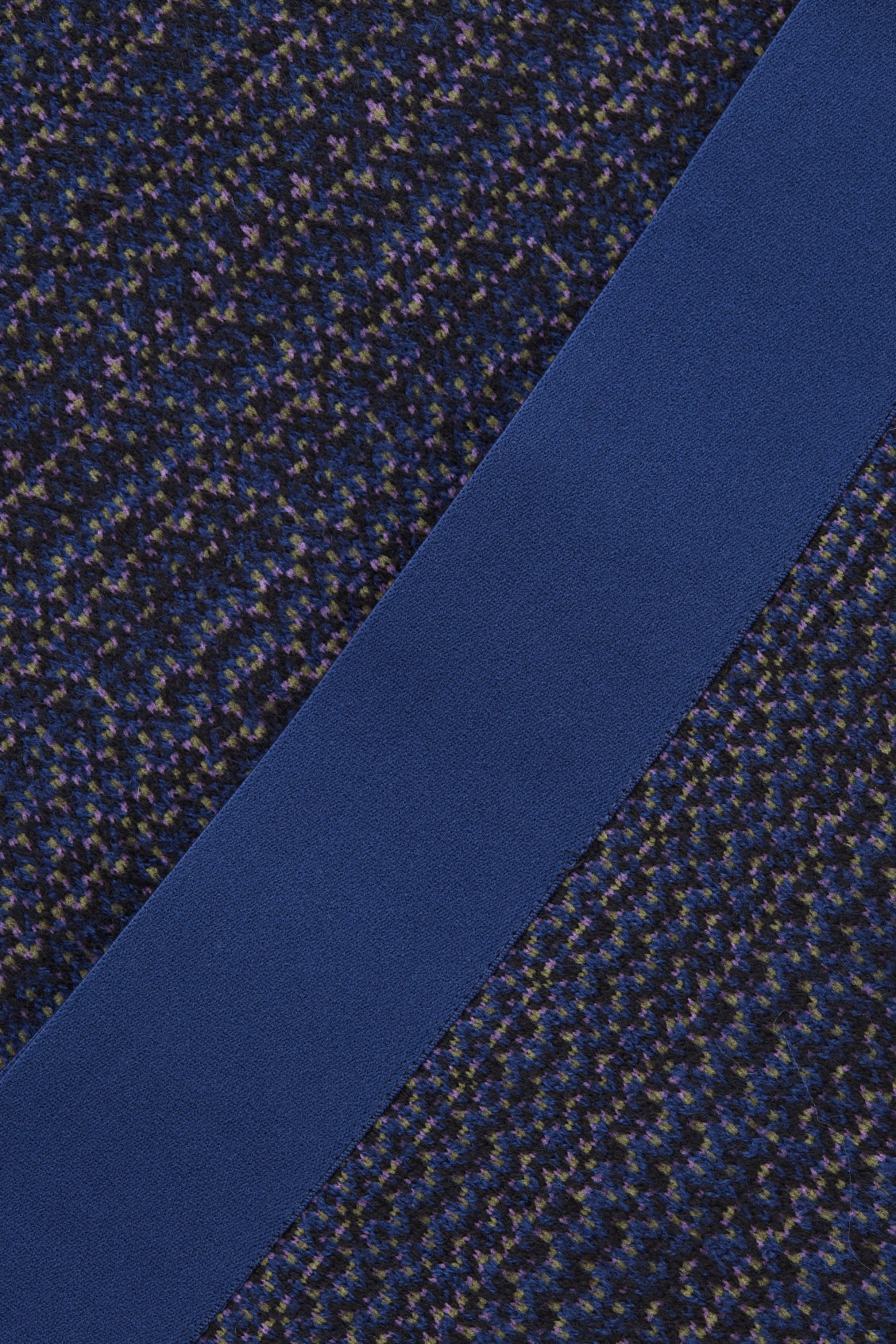 Side image of Cos jacquard boiled-wool knit skirt in blue