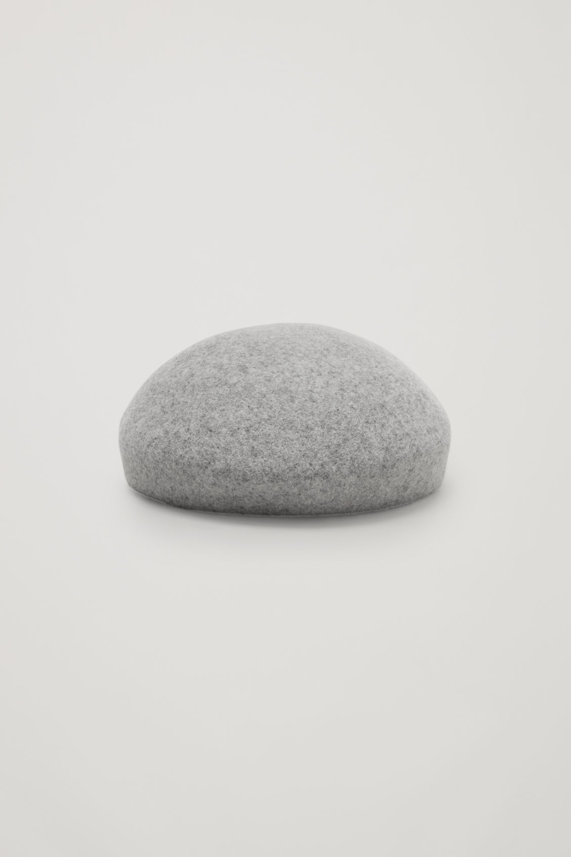 Front image of Cos felt-wool beret in grey