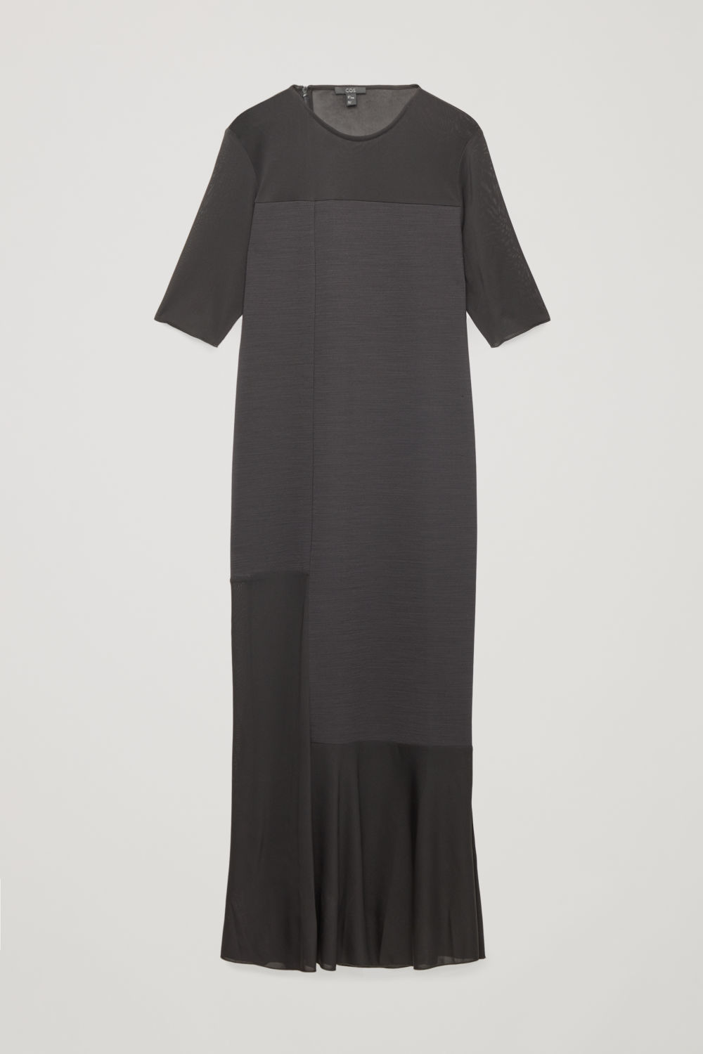 SHEER-PANELLED LONG DRESS