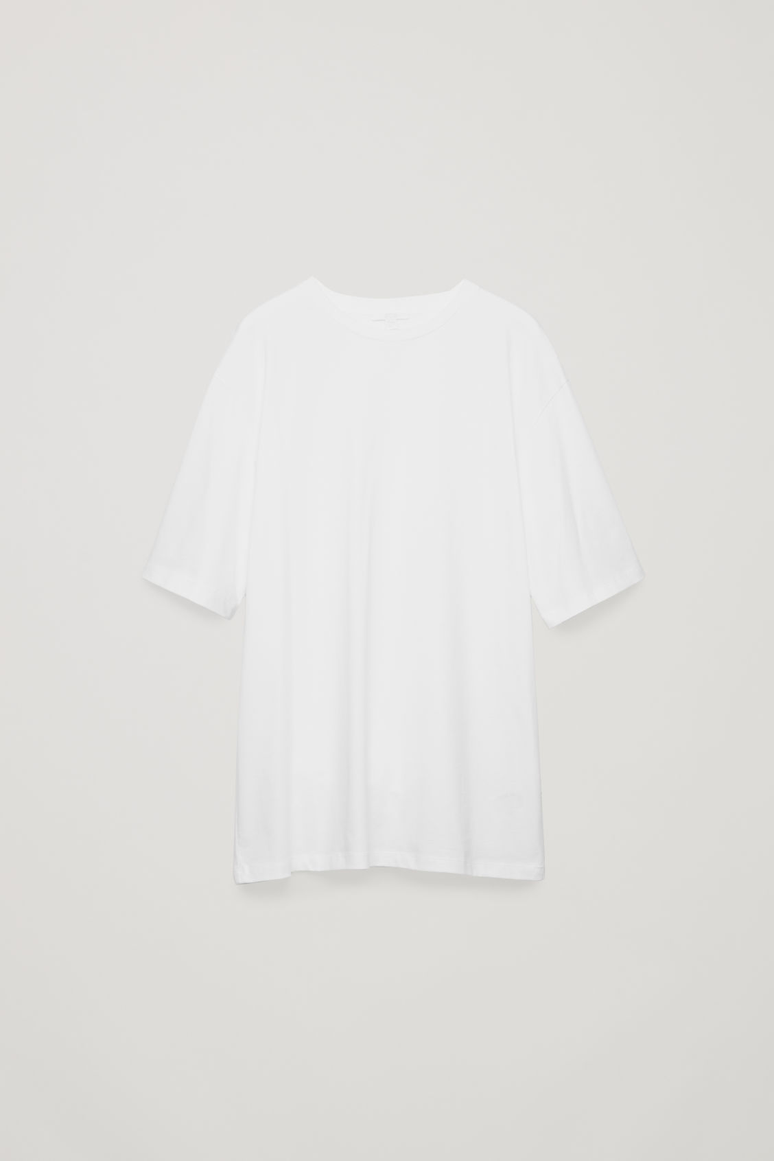 Front image of Cos oversized round-neck t-shirt  in white
