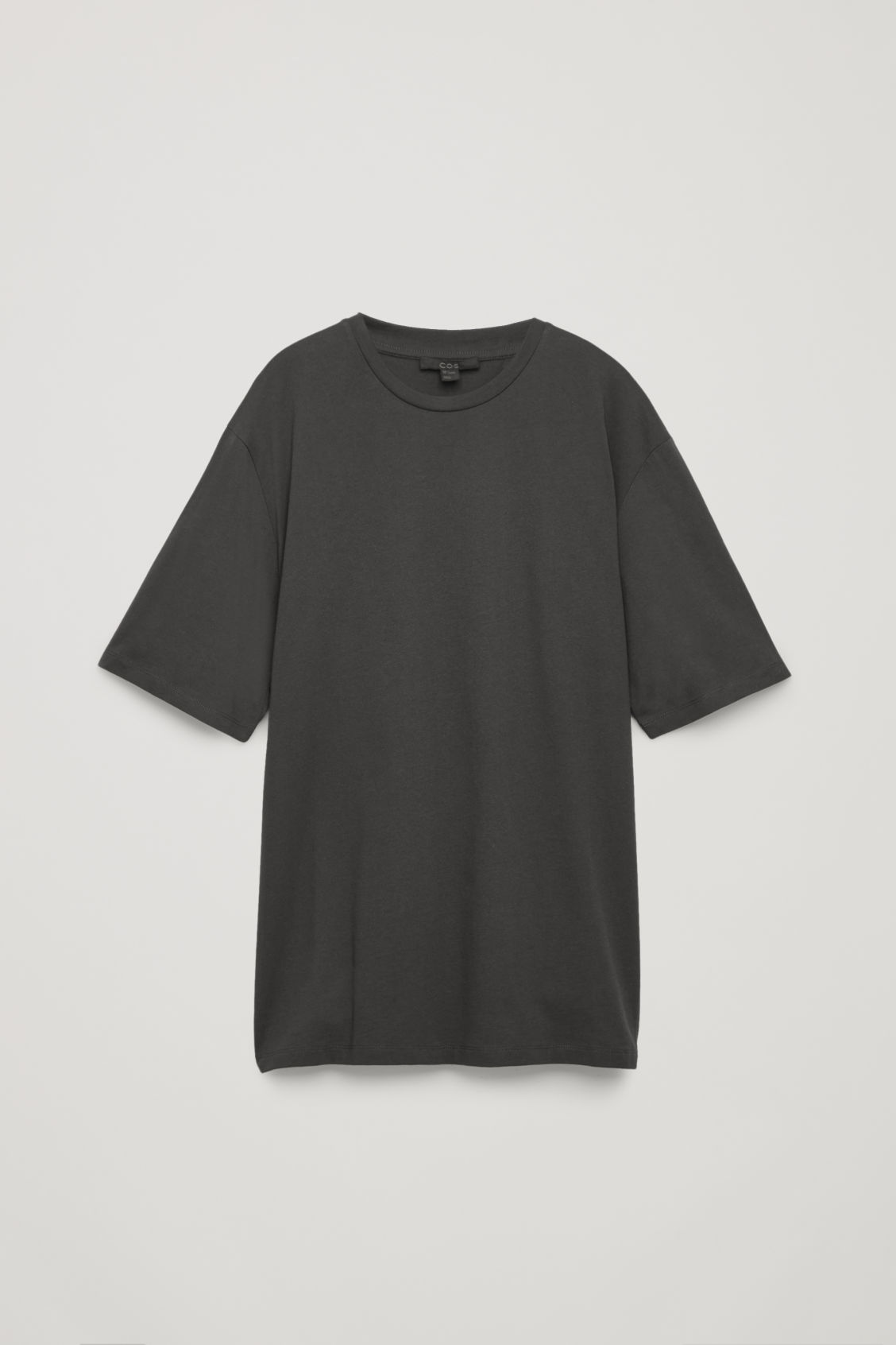 Front image of Cos oversized round-neck t-shirt  in grey