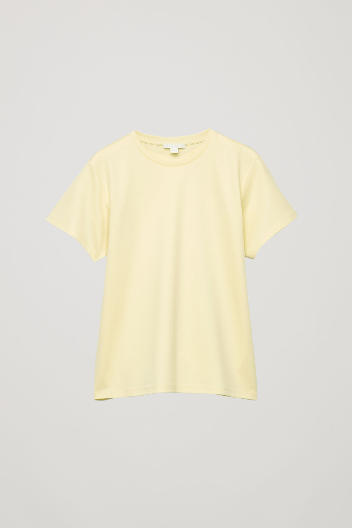Front image of Cos round-neck jersey t-shirt in yellow