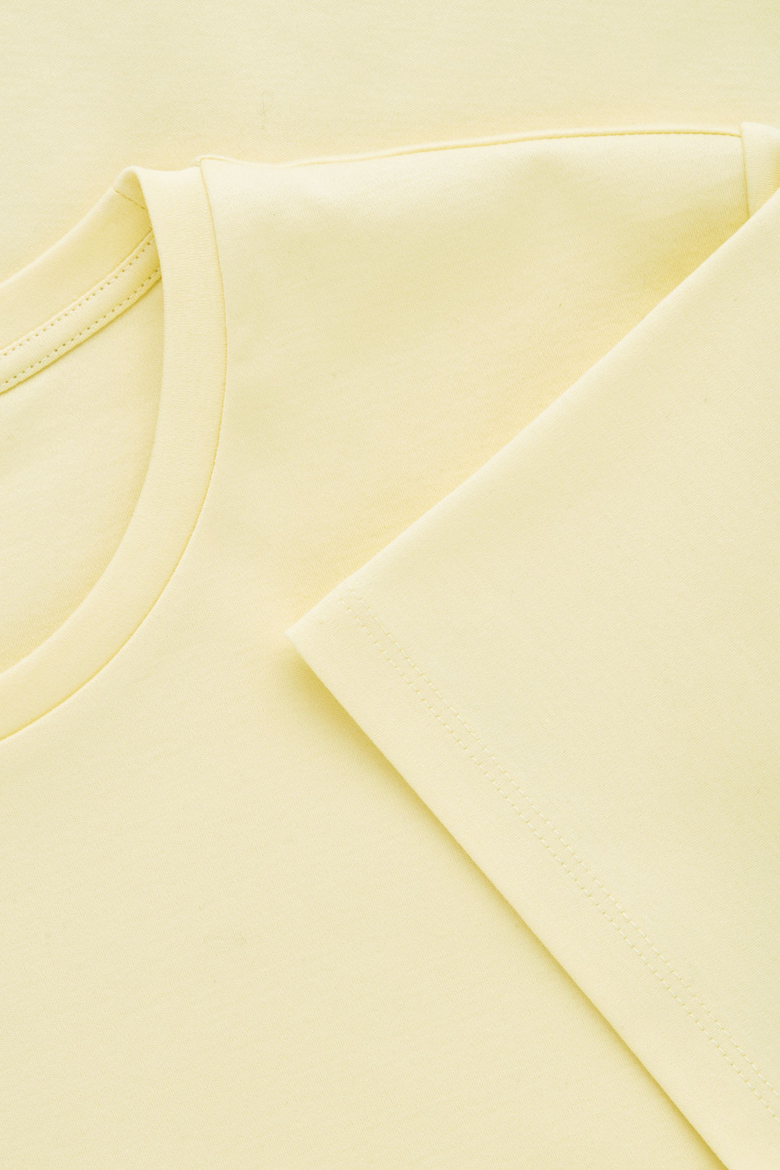 Side image of Cos round-neck jersey t-shirt in yellow