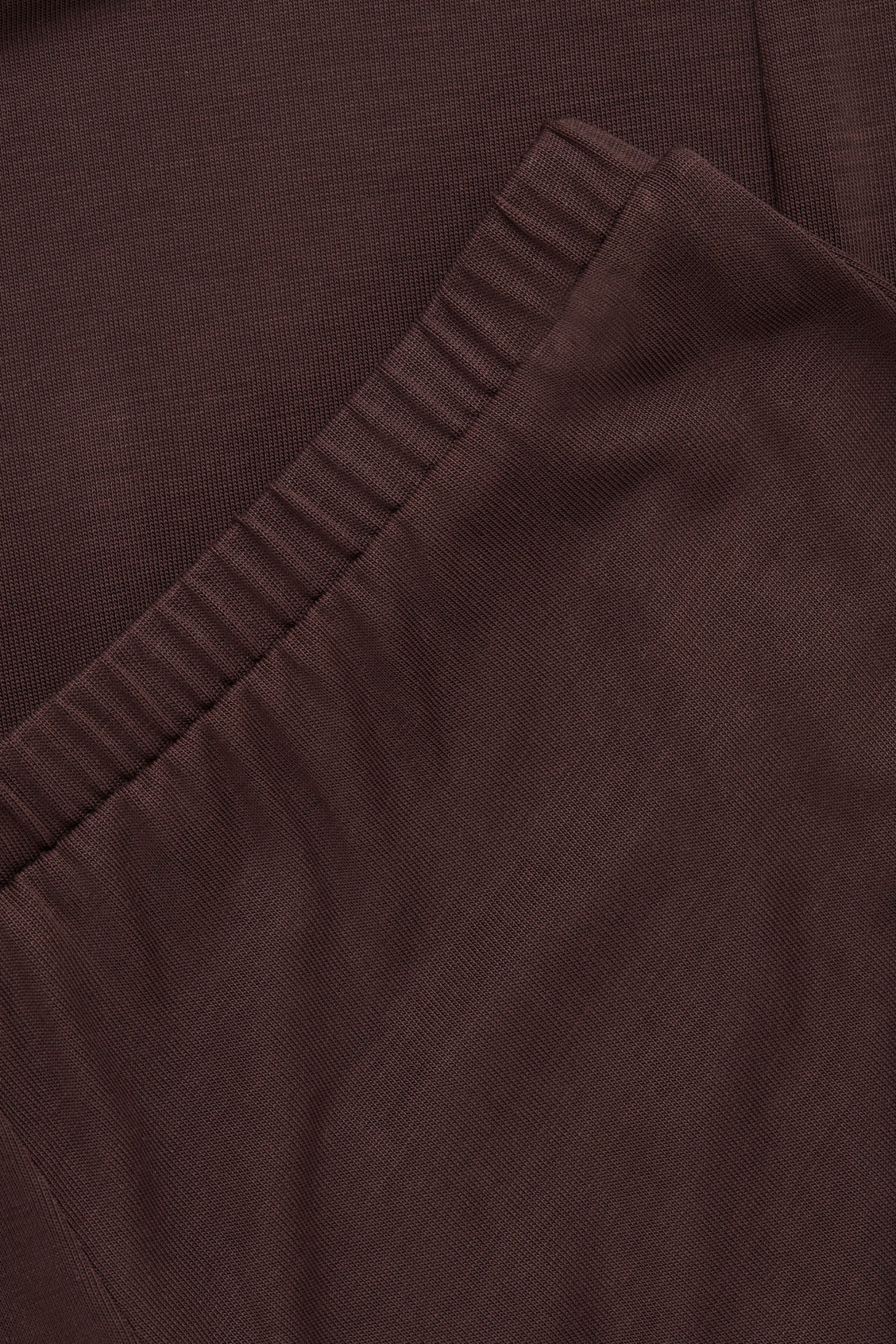 Side image of Cos elastic-waist jersey trousers  in brown