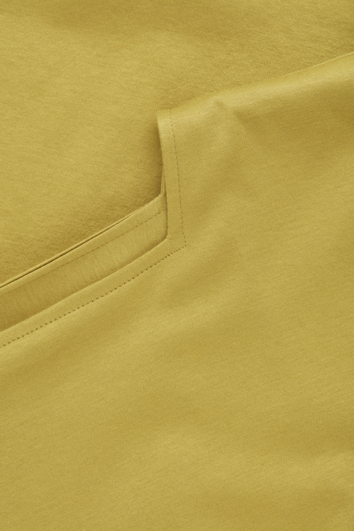 Side image of Cos square-neck jersey top in yellow