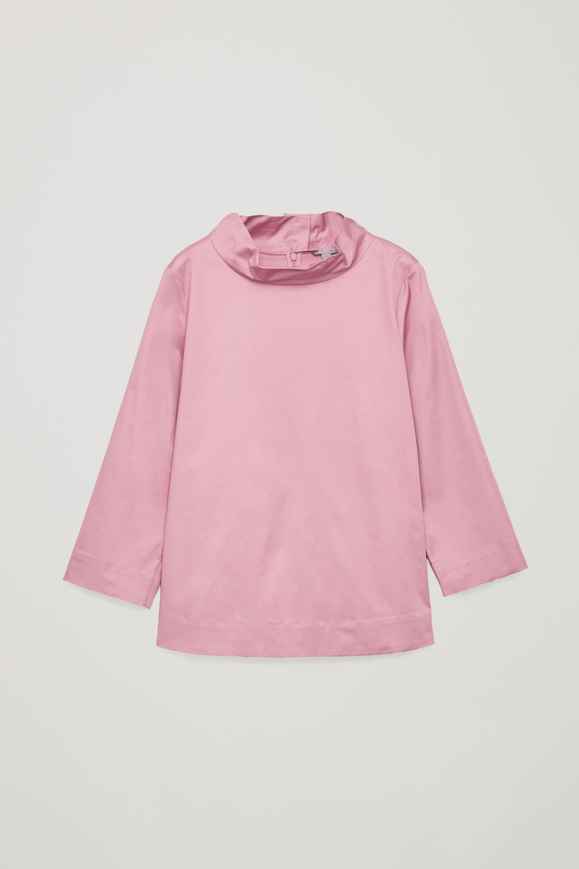 Front image of Cos cotton top with button detail  in pink
