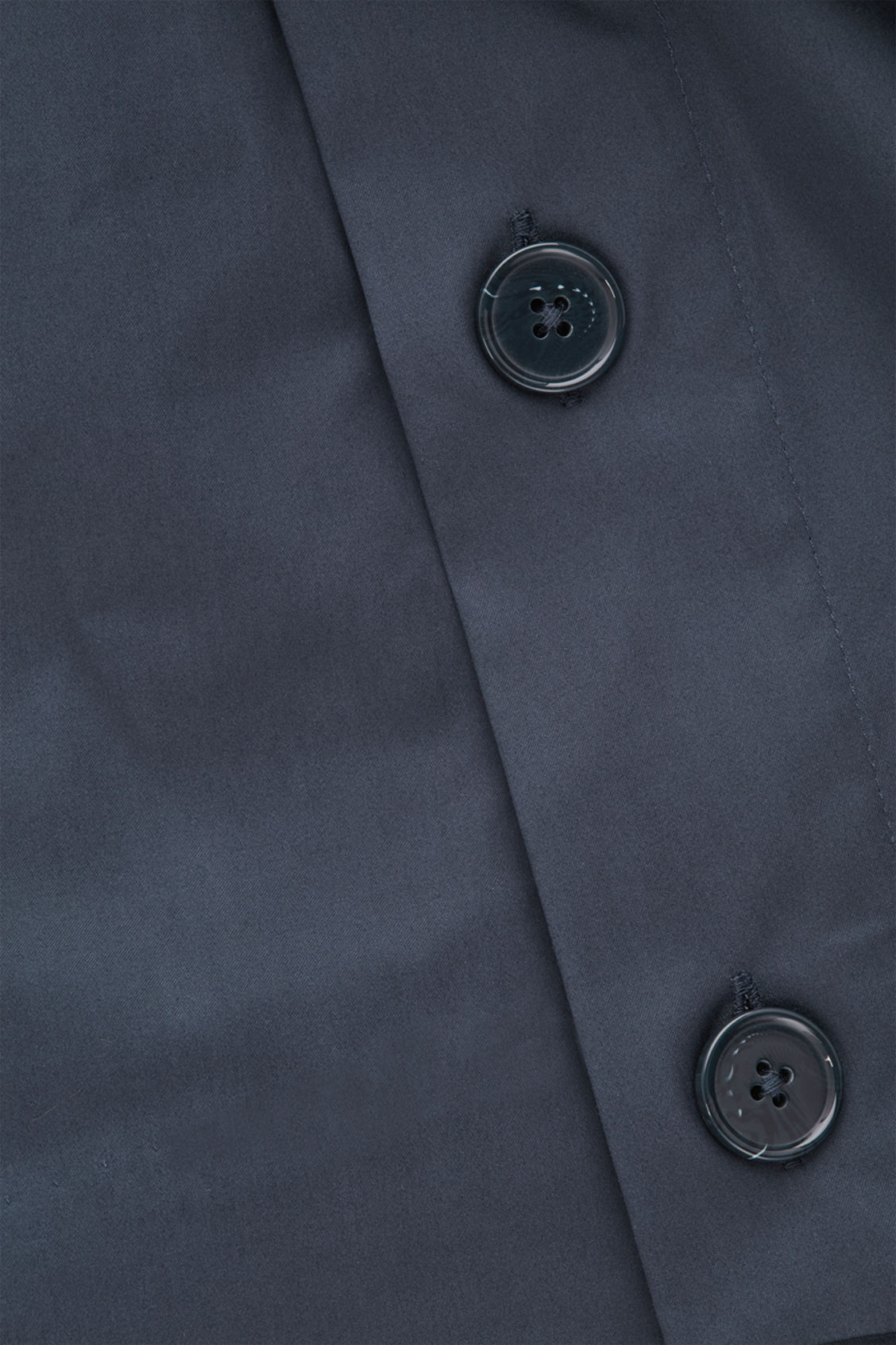 Side image of Cos cotton top with button detail  in blue