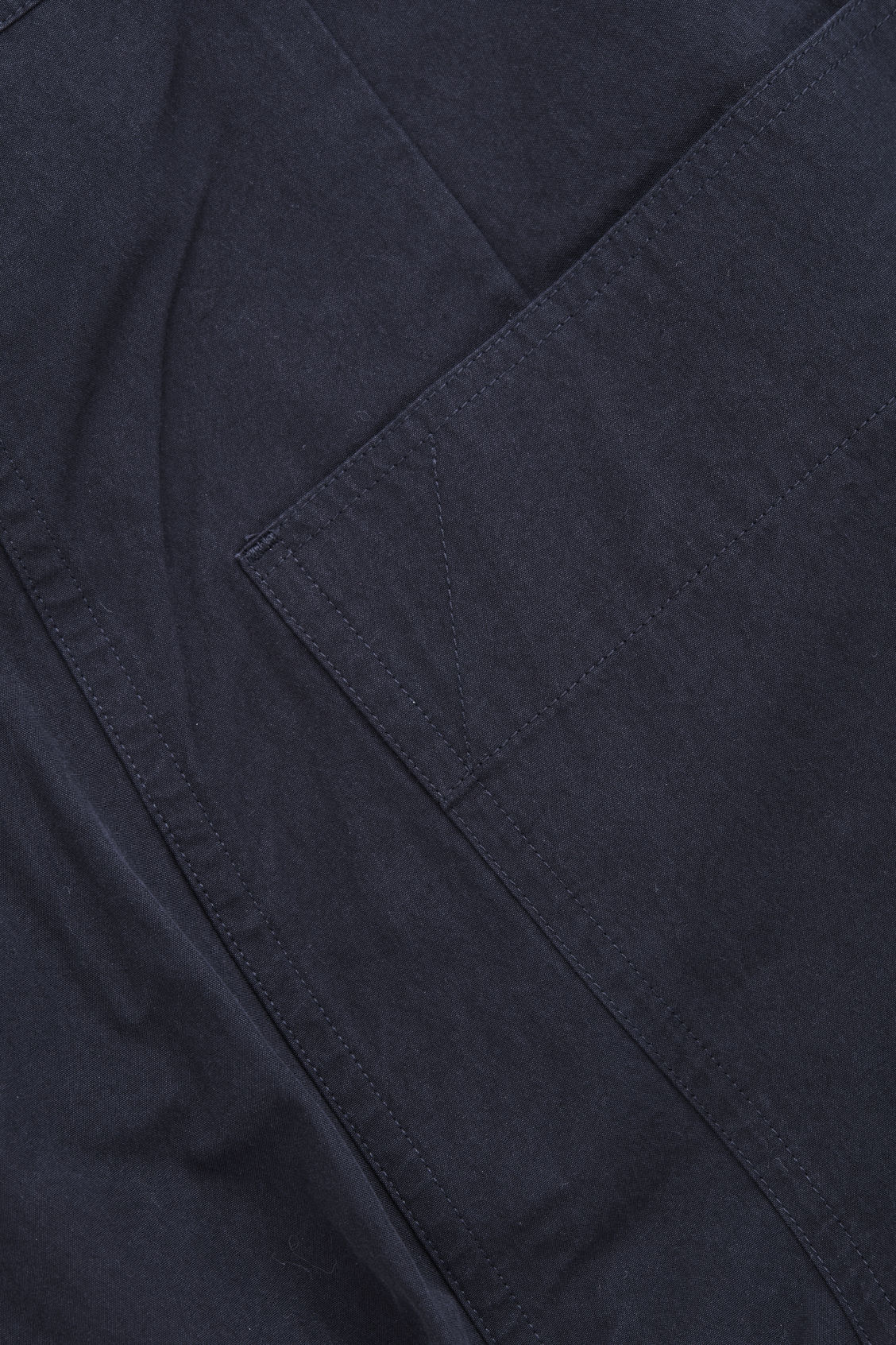 Side image of Cos button-up cotton chinos in blue