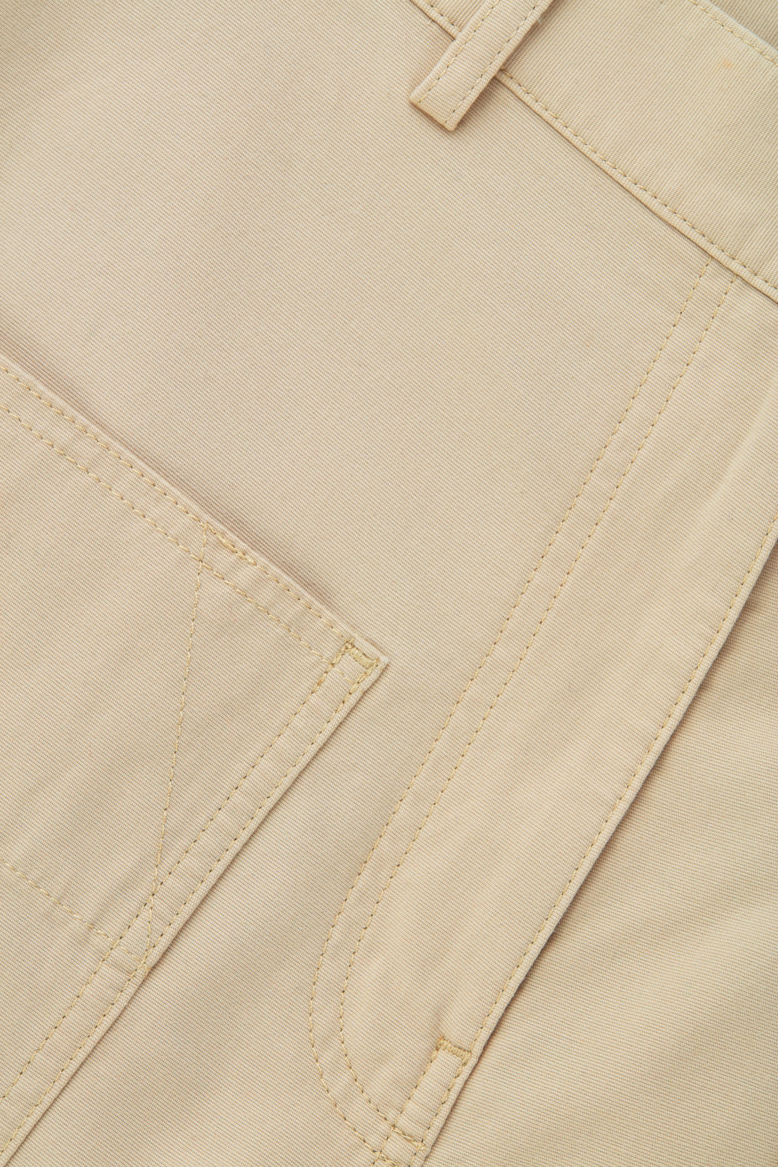 Side image of Cos straight-leg trousers with pockets in beige