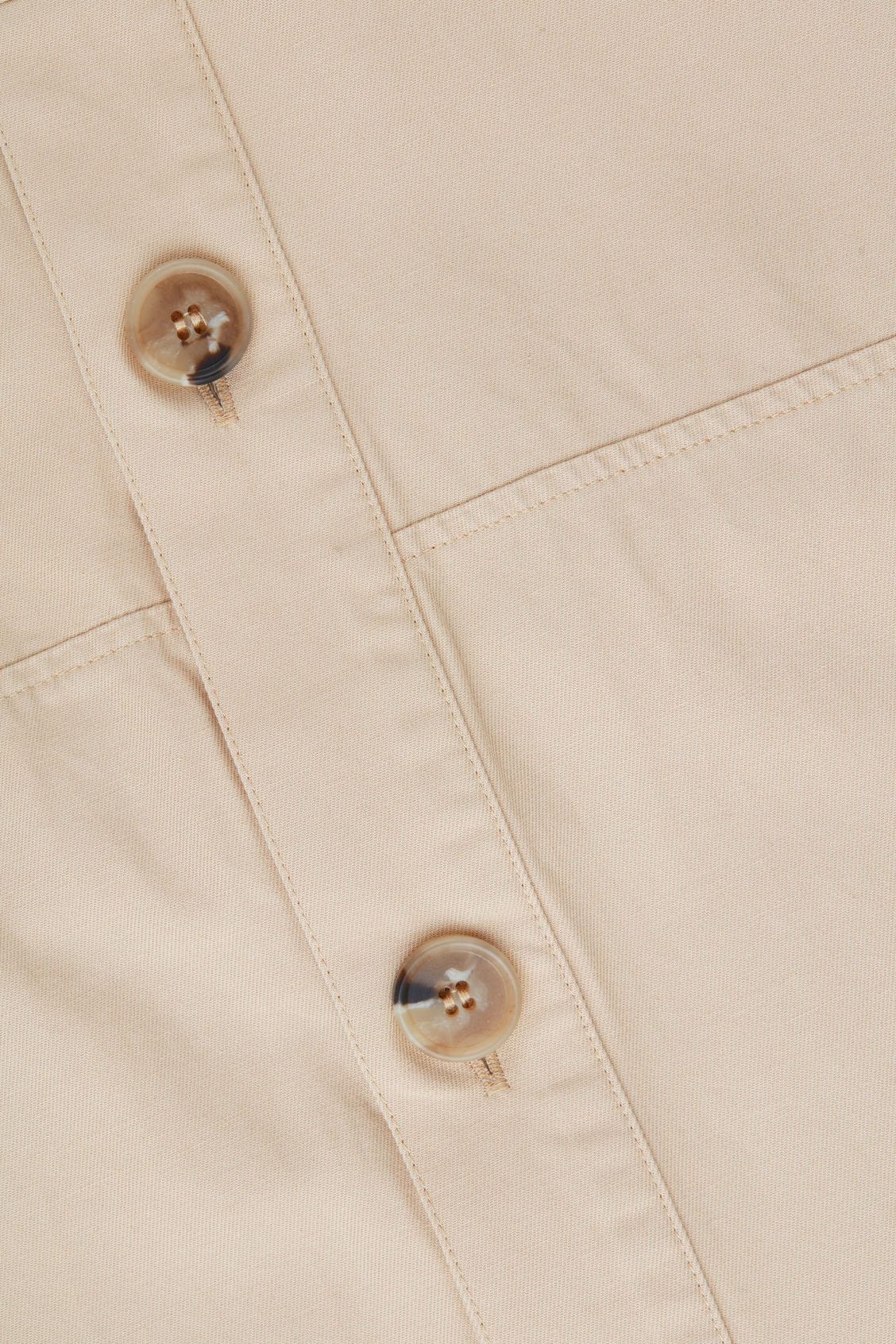 Side image of Cos belted button-up jumpsuit in beige