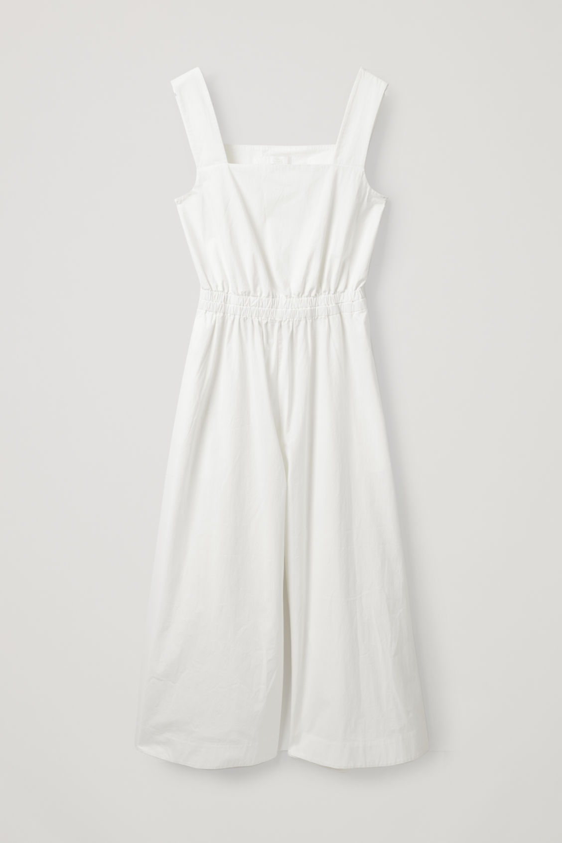 Front image of Cos wide-leg cotton jumpsuit  in white