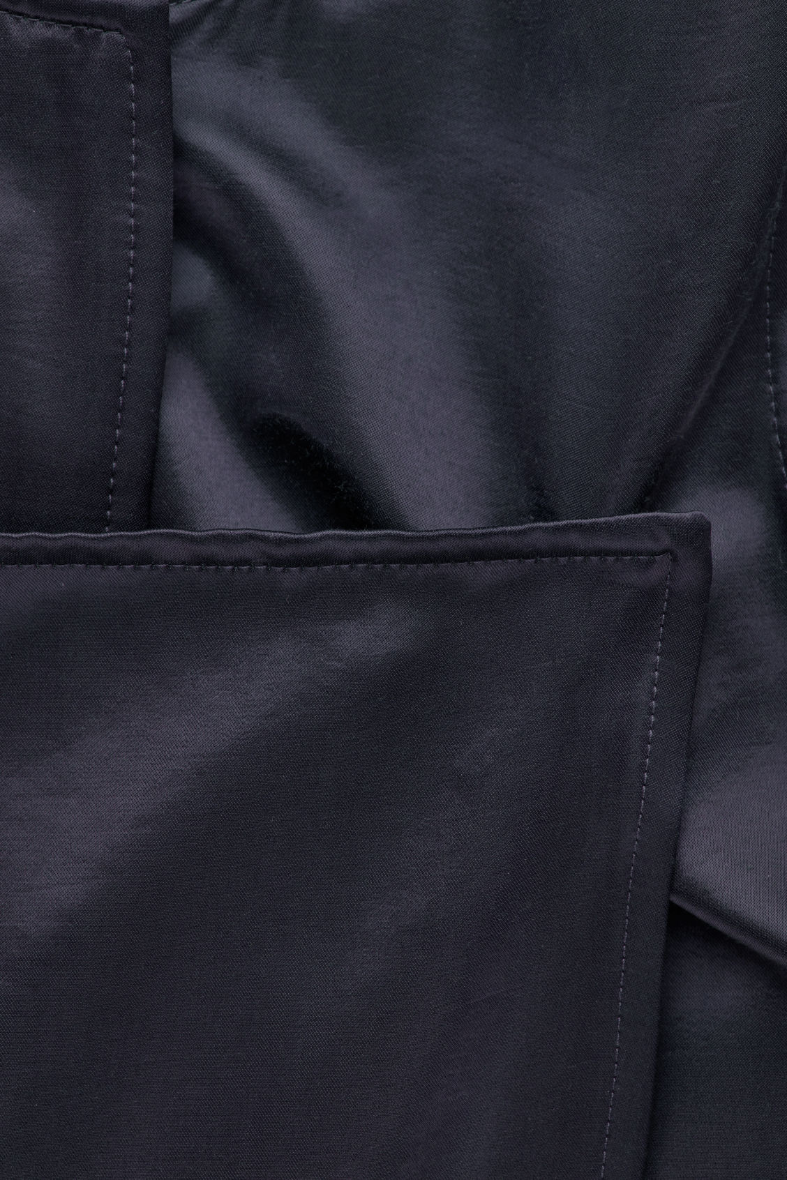 Side image of Cos trench-detail smooth sleeveless dress in blue