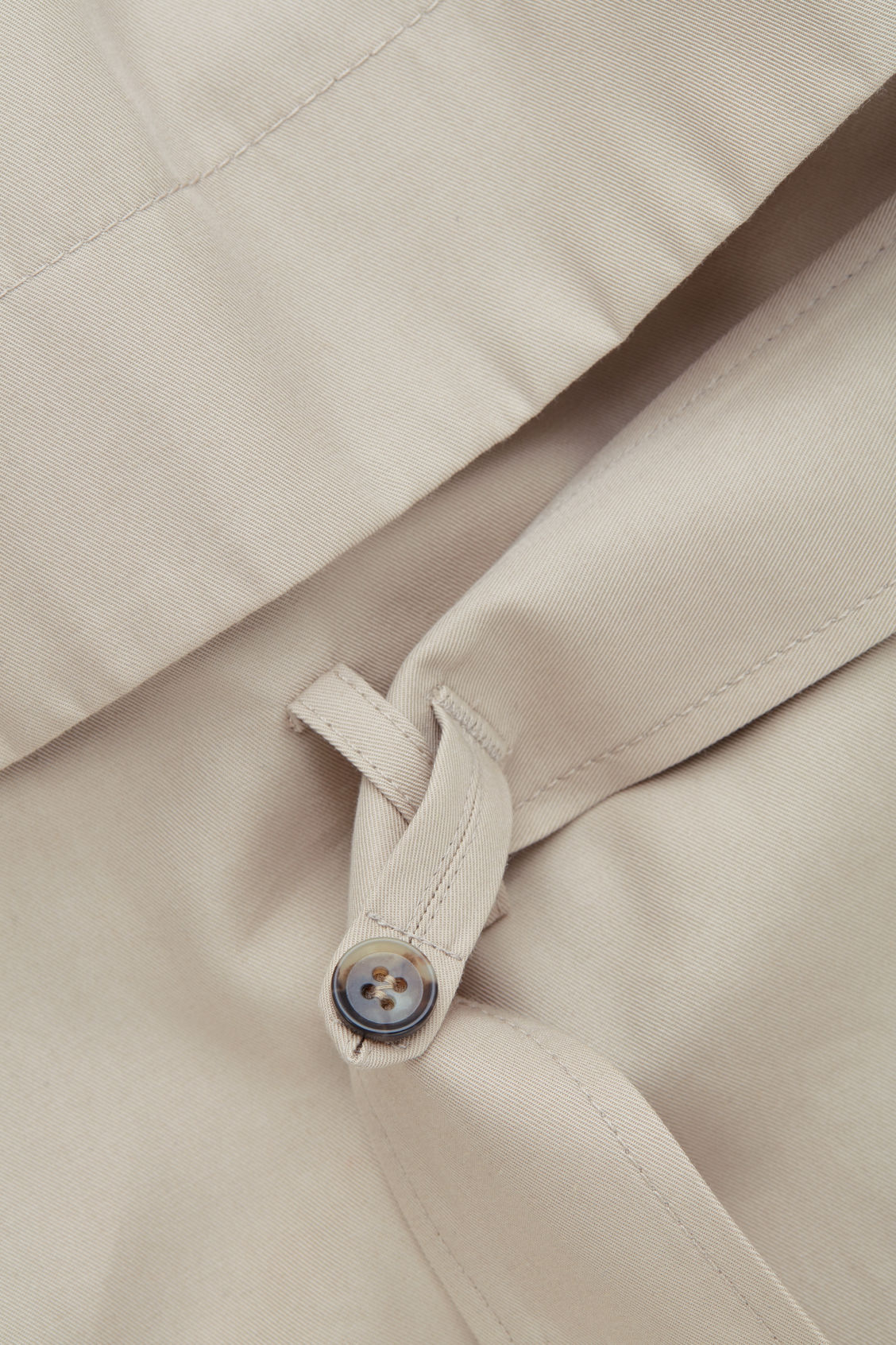 Side image of Cos organic-cotton trench coat  in beige