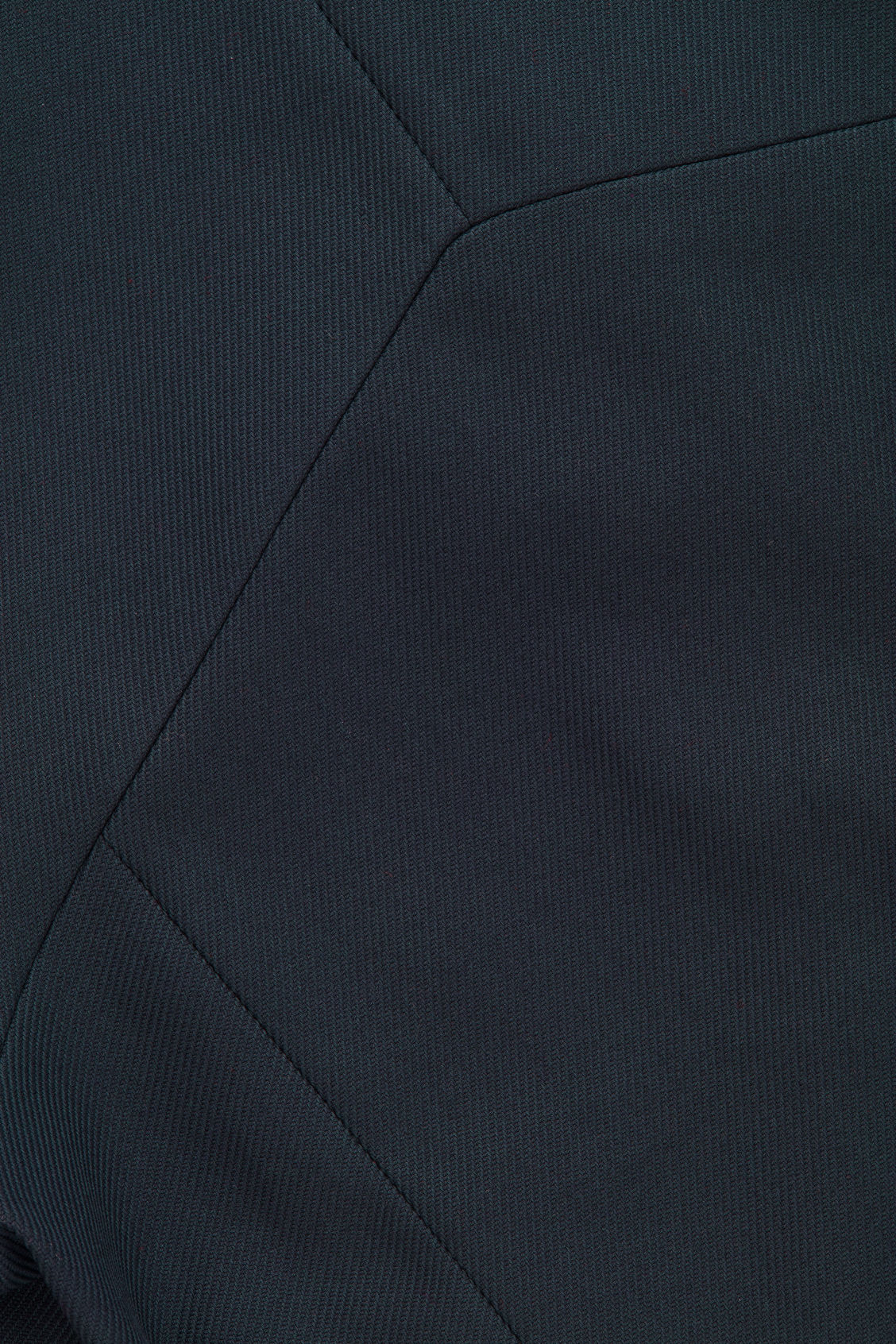 Side image of Cos collarless zip-up blazer in blue