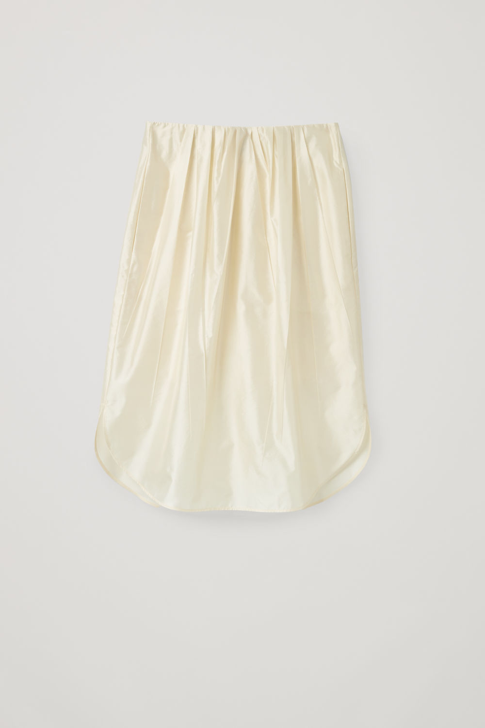 PLEATED SILK-BLEND SKIRT