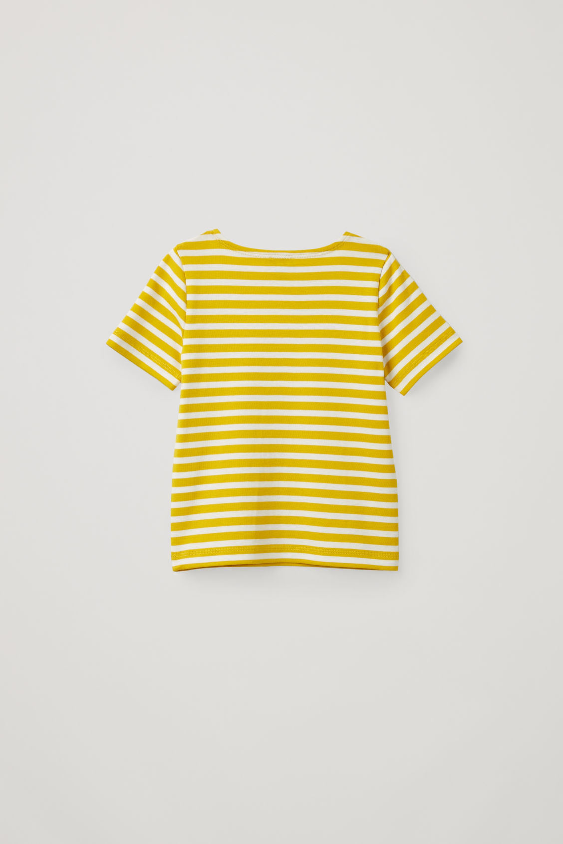 Side image of Cos striped short-sleeved t-shirt in yellow
