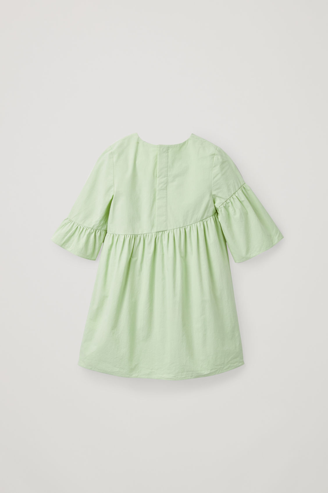 Side image of Cos asymmetric-frill dress in green