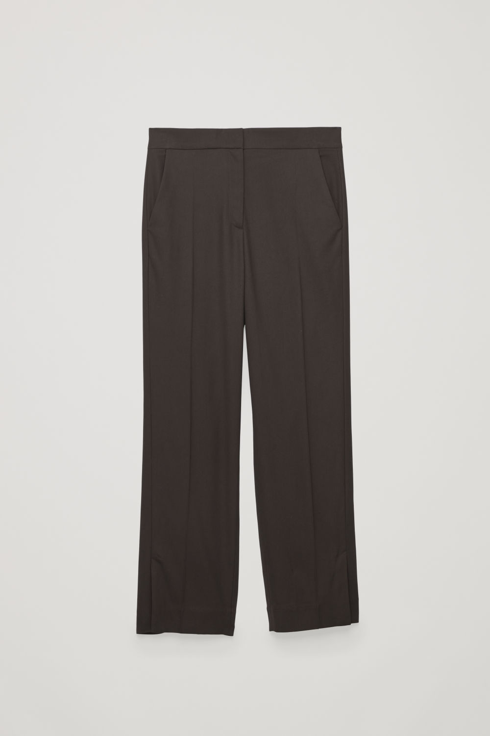 VENT-DETAIL TAILORED TROUSERS