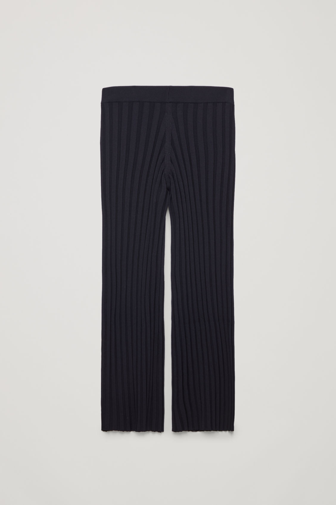 Front image of Cos ribbed cotton trousers in blue