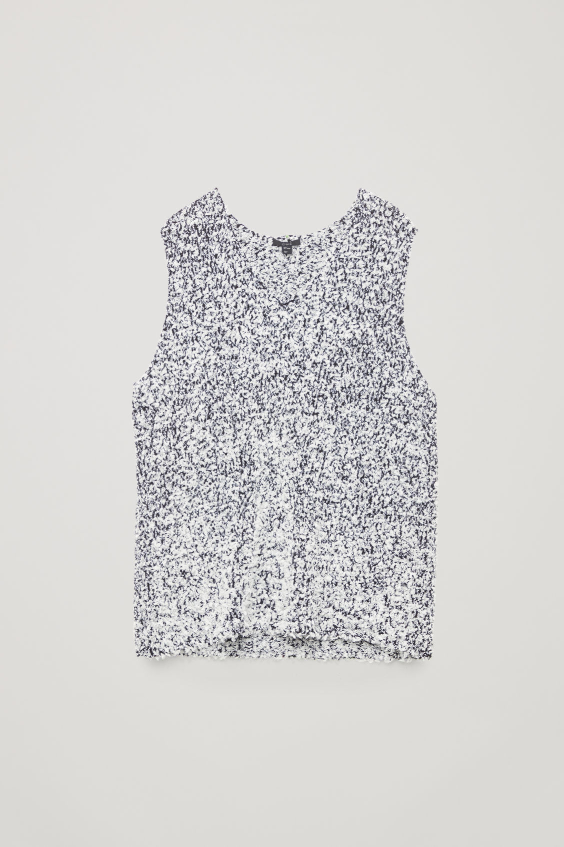 Front image of Cos sleeveless reverse-knit top in black