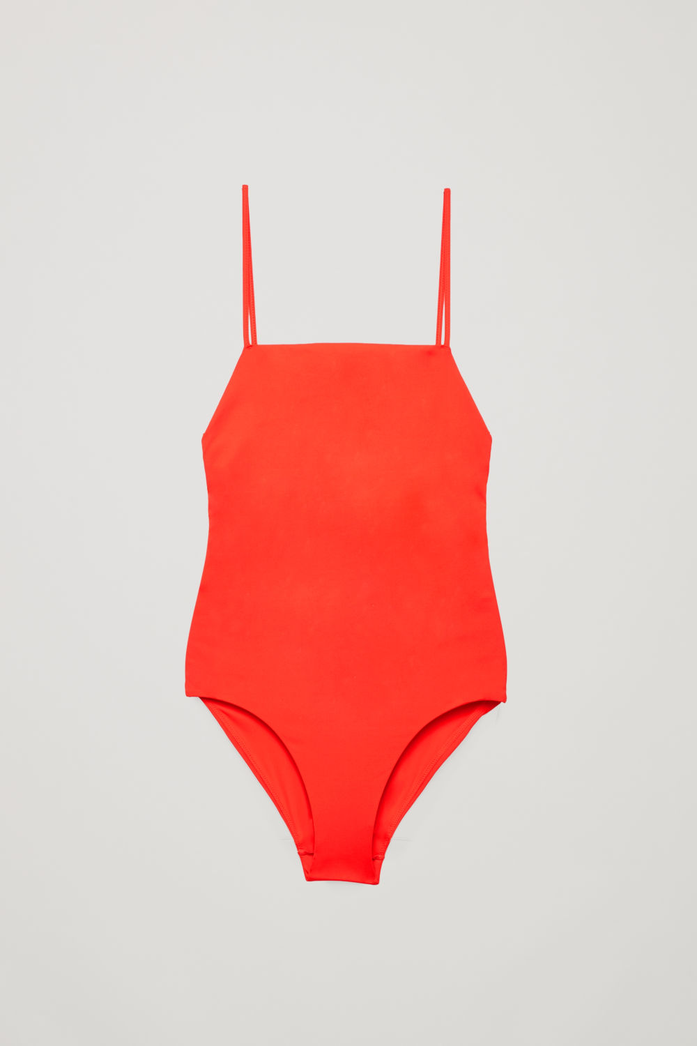 CROSSOVER SQUARE-NECK SWIMSUIT