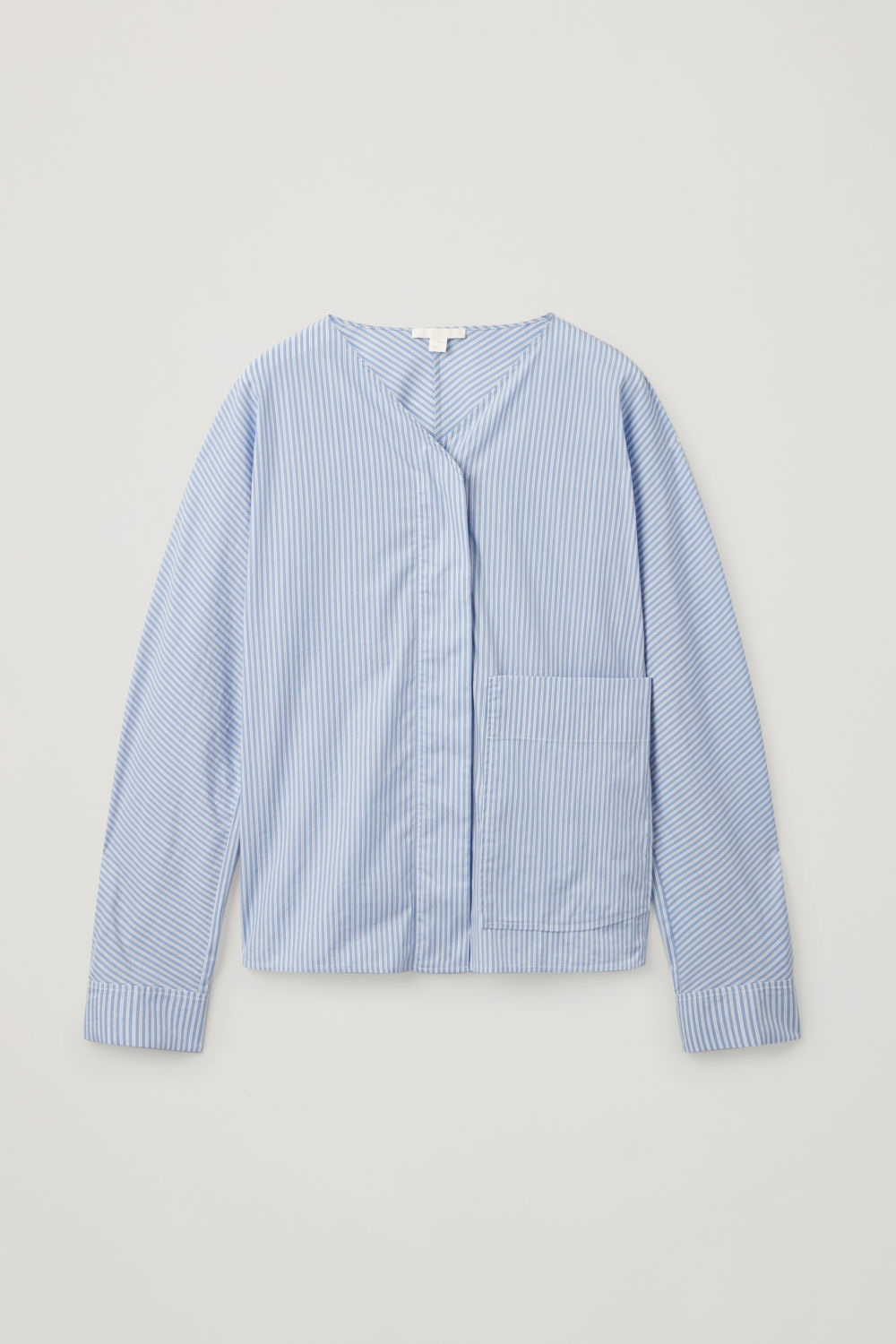 Front image of Cos striped circle-shape shirt in blue