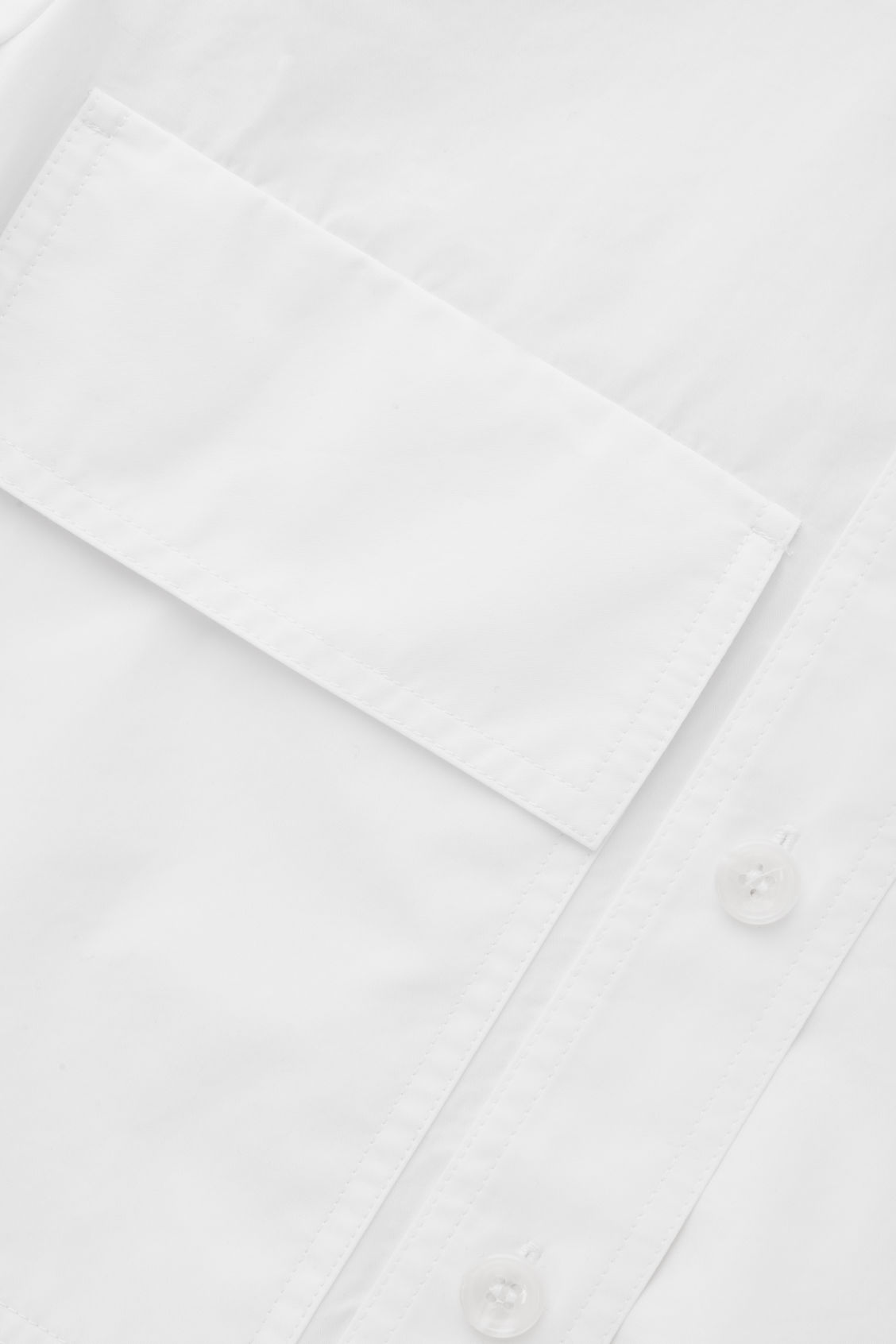 Side image of Cos long shirt with pocket in white