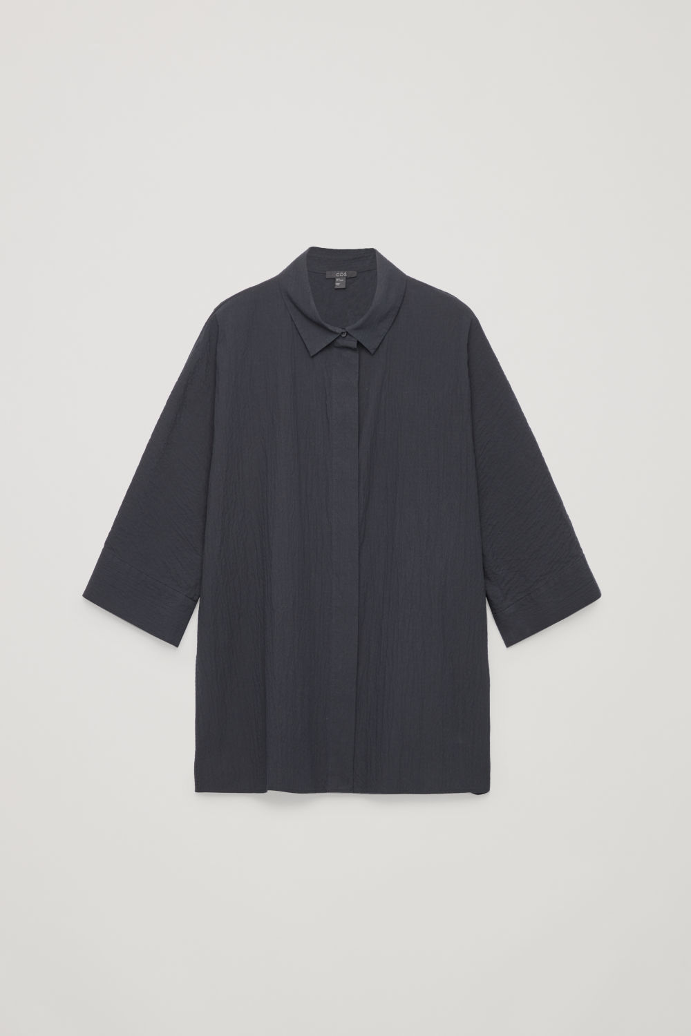 LOOSE-FIT SEERSUCKER SHIRT