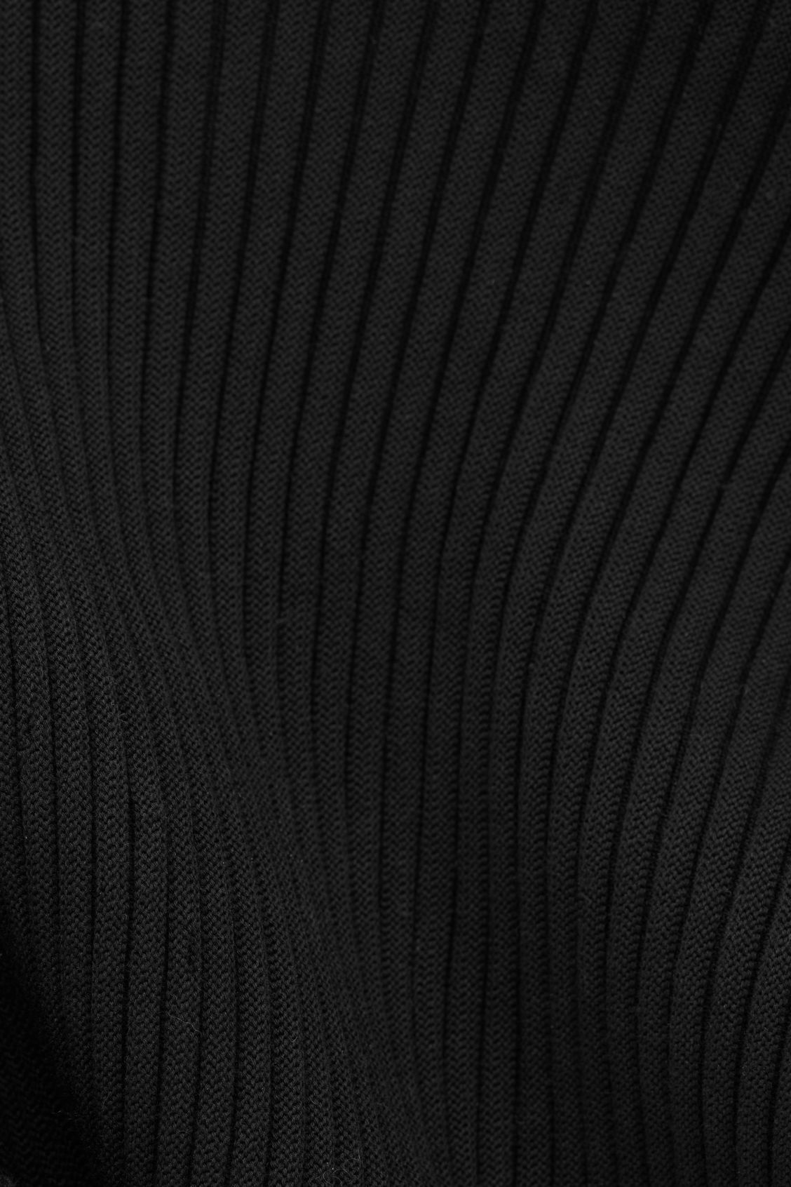 Side image of Cos cocoon ribbed cape in black