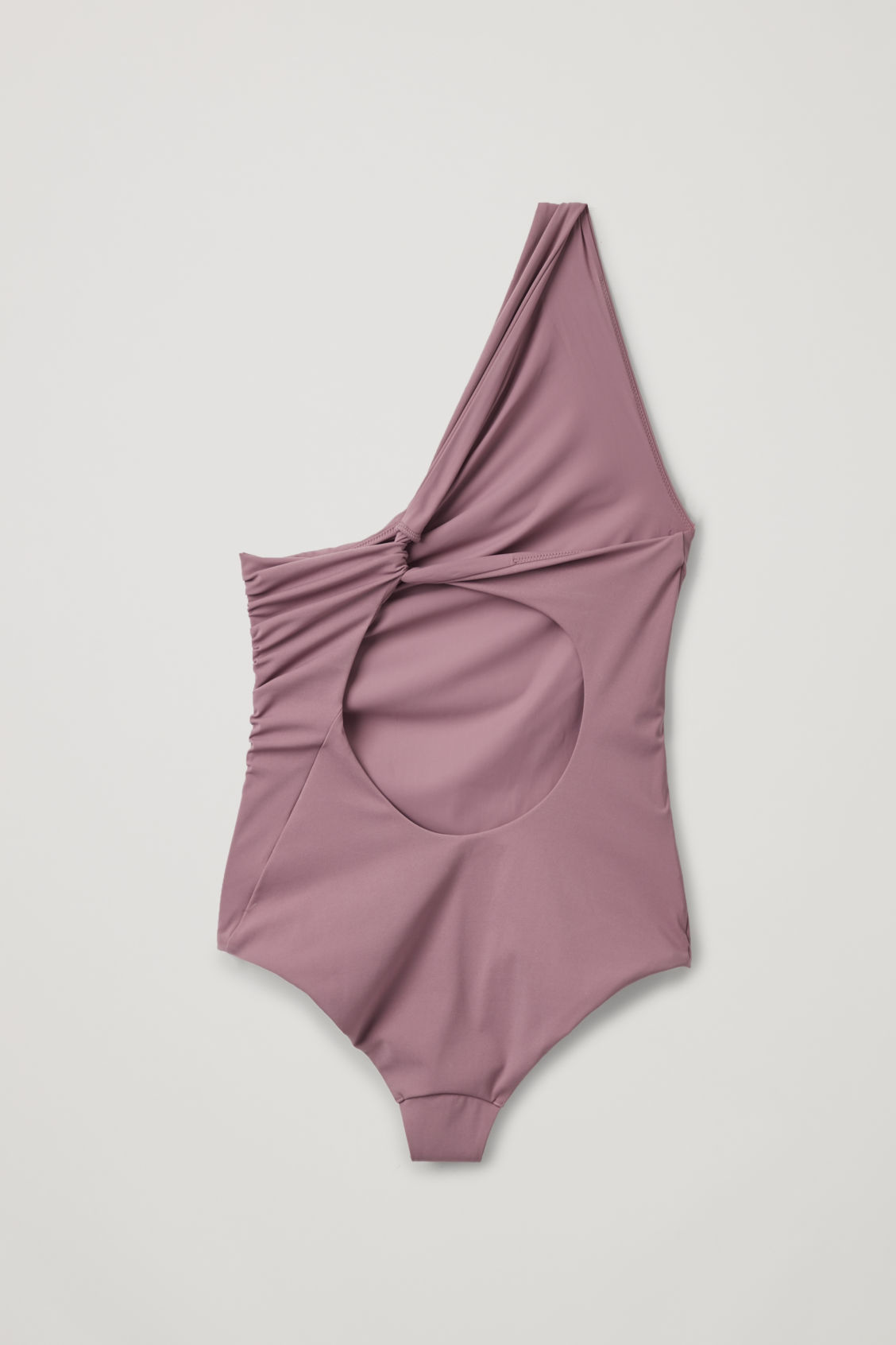 Side image of Cos twisted-back swimsuit  in purple