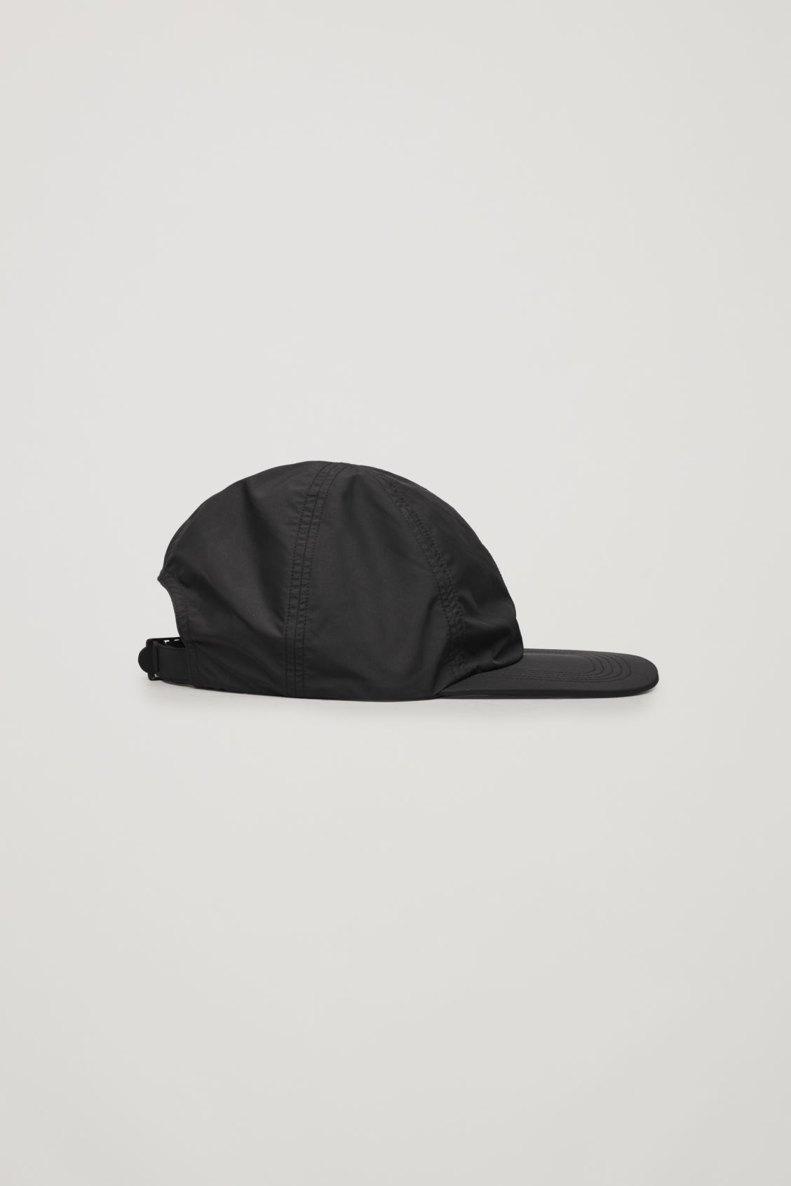 Front image of Cos technical soft cap in black