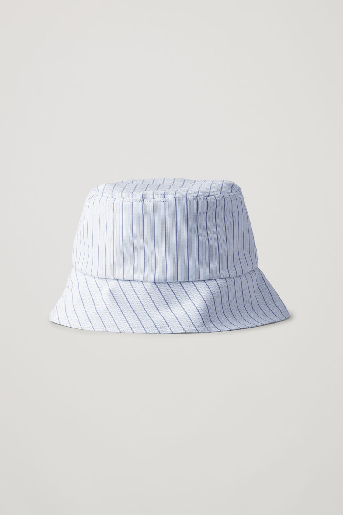 Front image of Cos striped bucket hat in blue