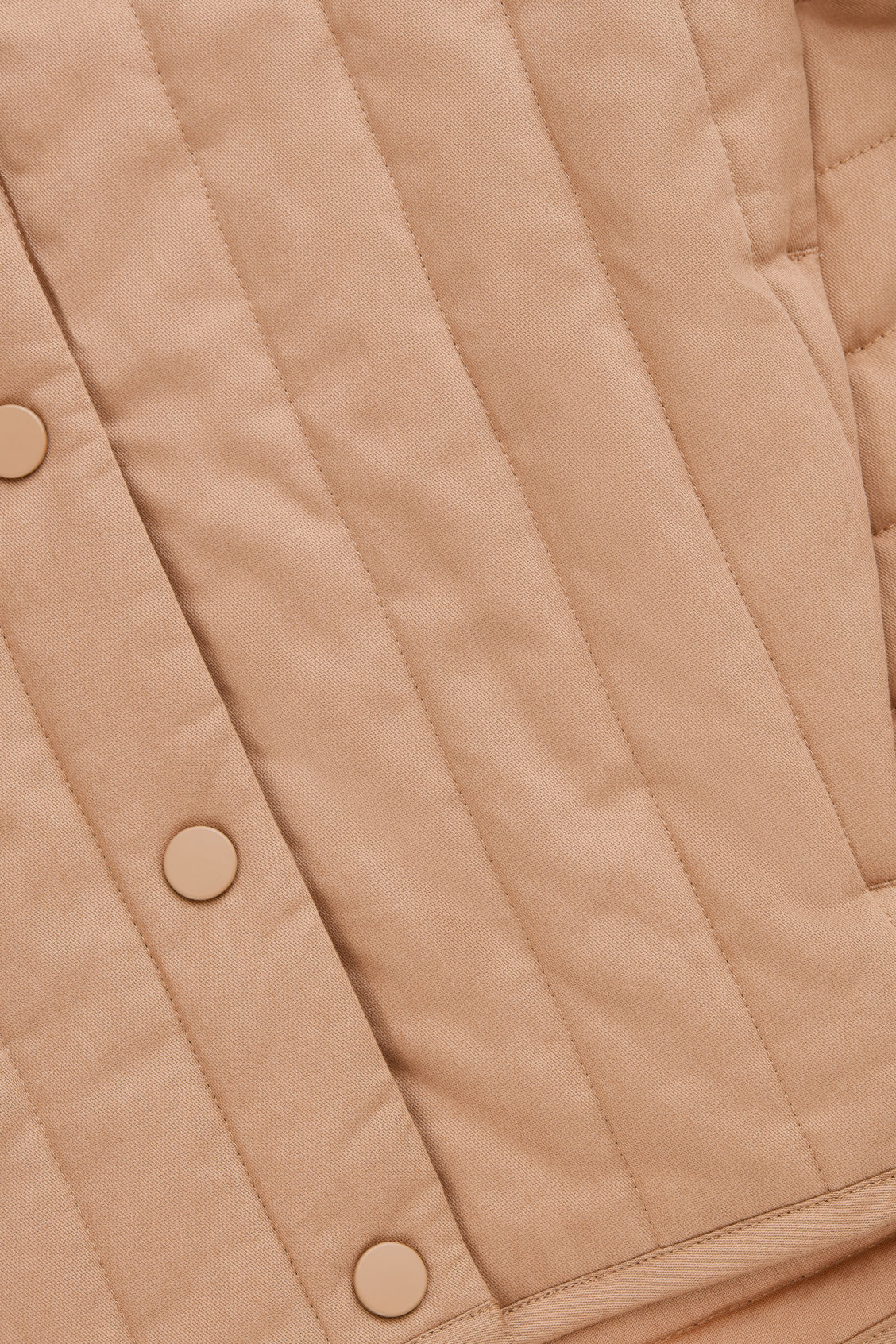 Side image of Cos quilted cotton jacket in brown
