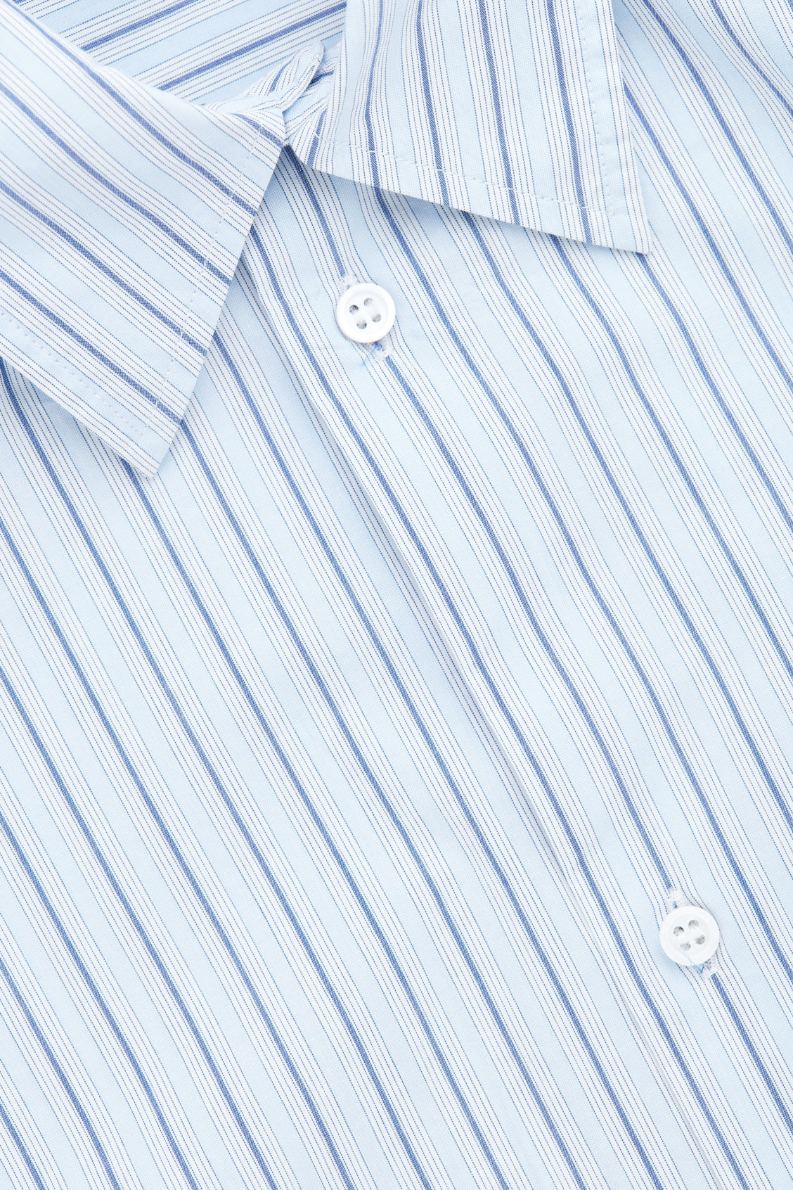 Side image of Cos stepped multi-stripe shirt in blue