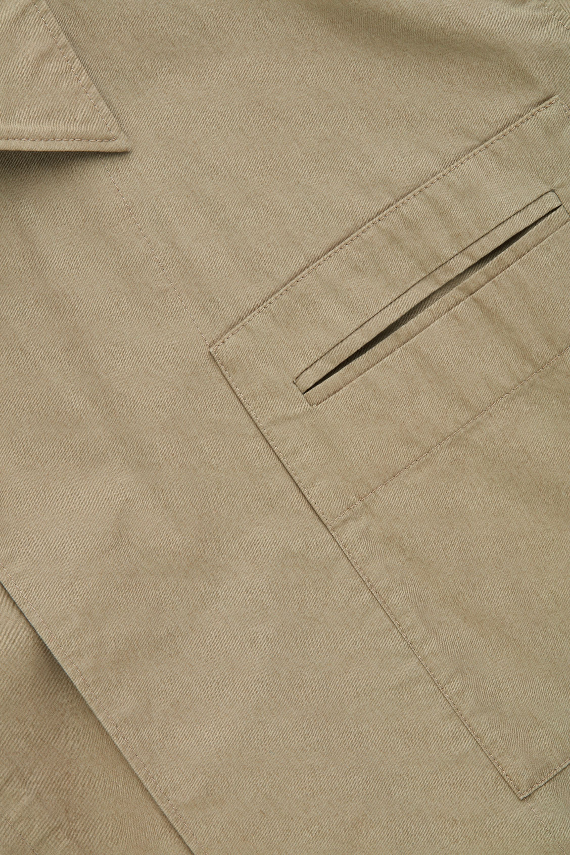 Side image of Cos casual workwear shirt jacket in beige