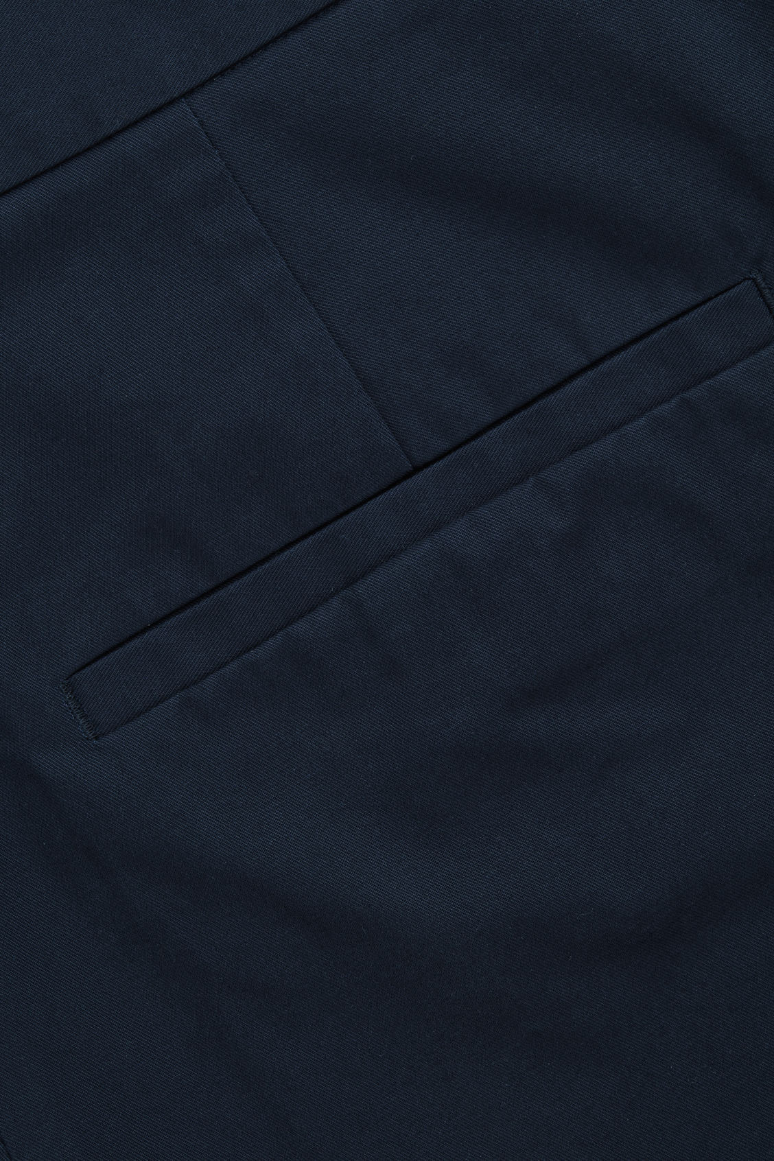 Side image of Cos wide-leg pleated chinos in blue