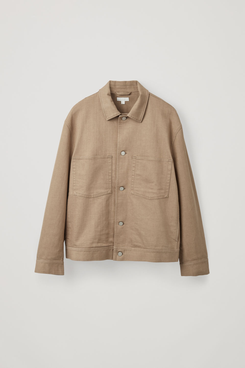 Front image of Cos relaxed two-pocket jacket  in beige