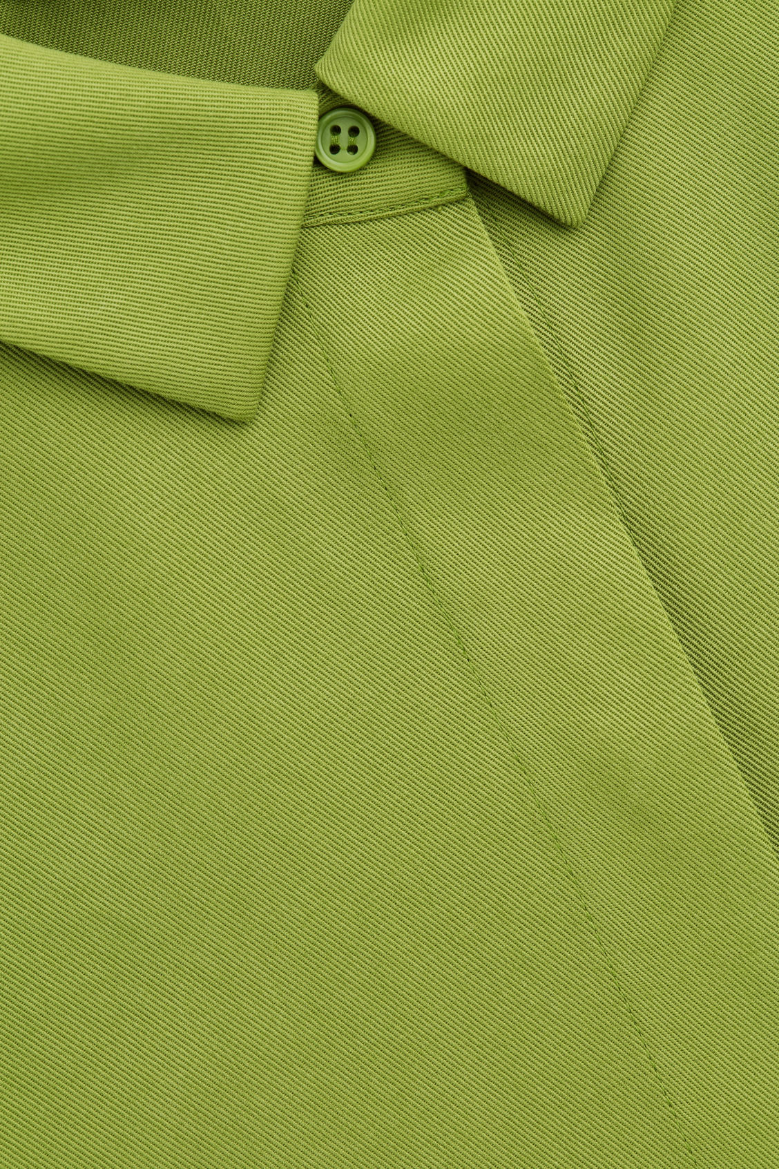 Side image of Cos boxy shirt dress in green