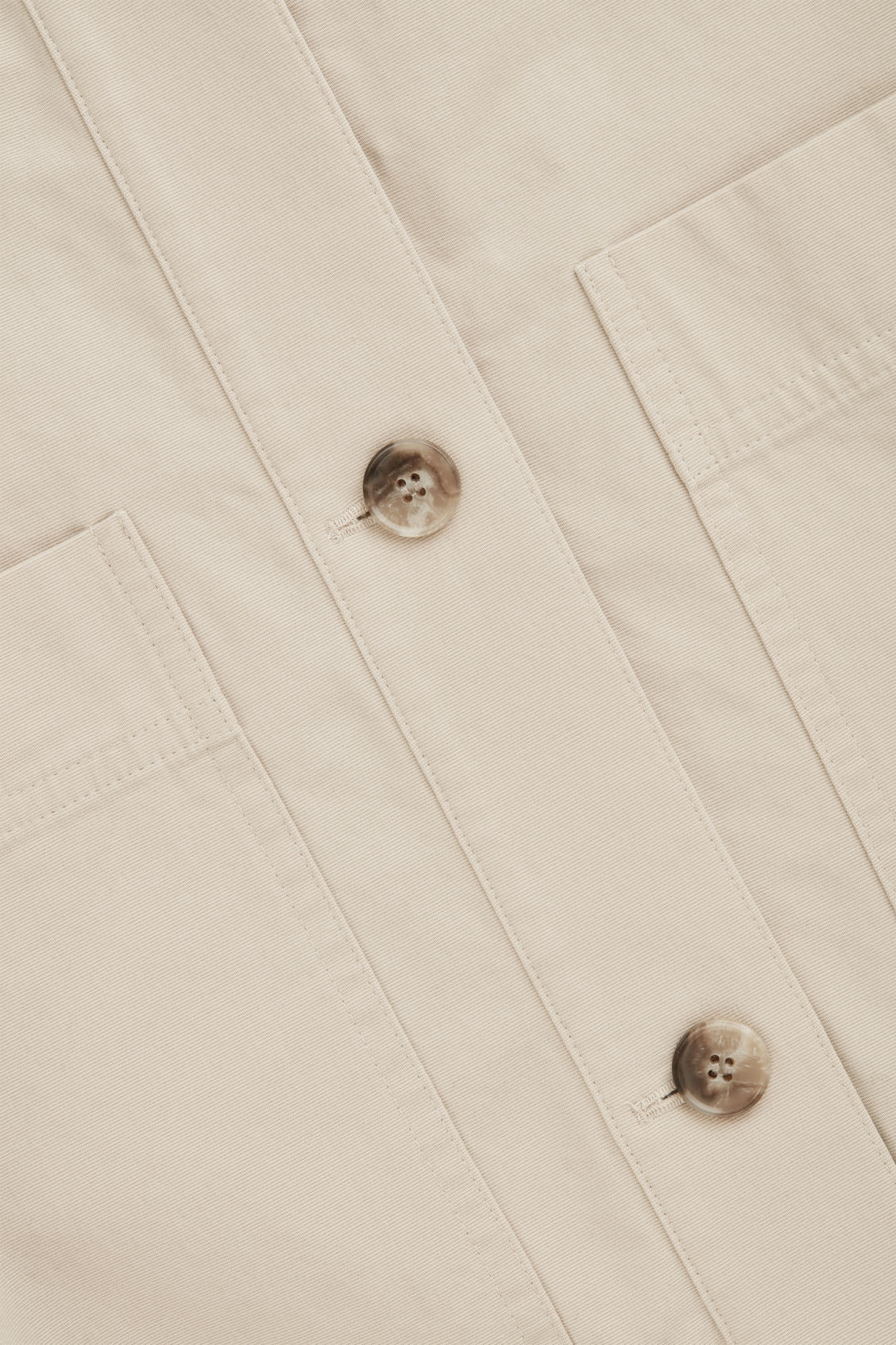 Side image of Cos button-up canvas jacket in beige