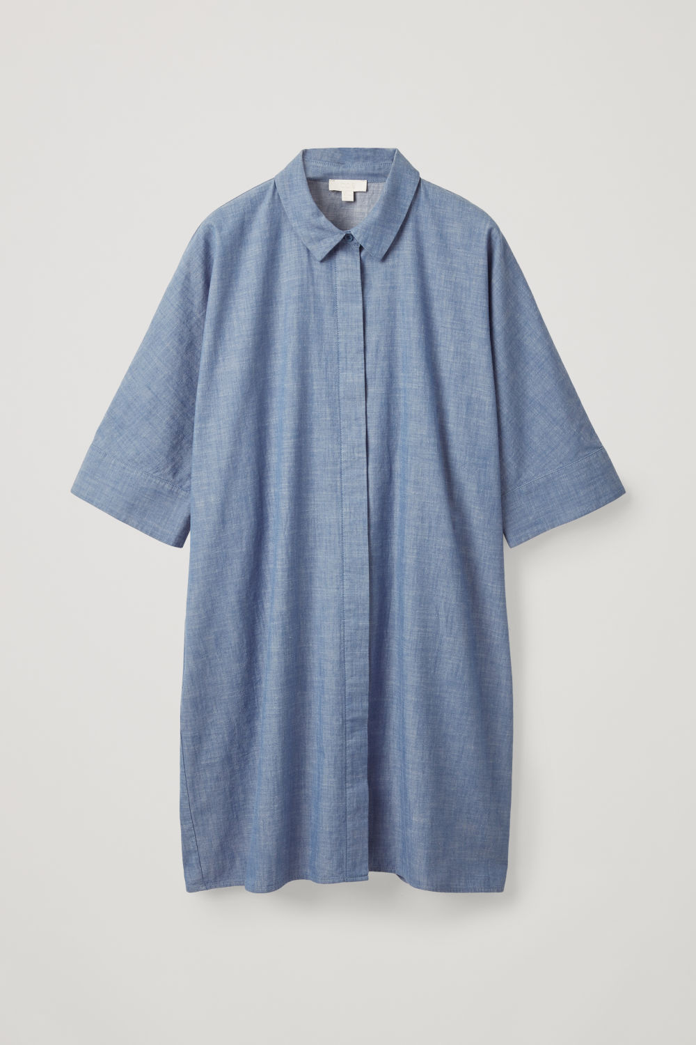 BOXY DENIM SHIRT DRESS