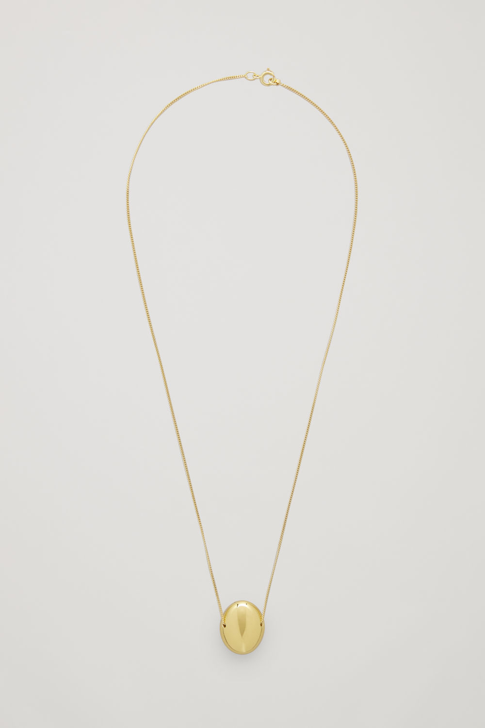 CURVED GOLD-PLATED PENDANT NECKLACE