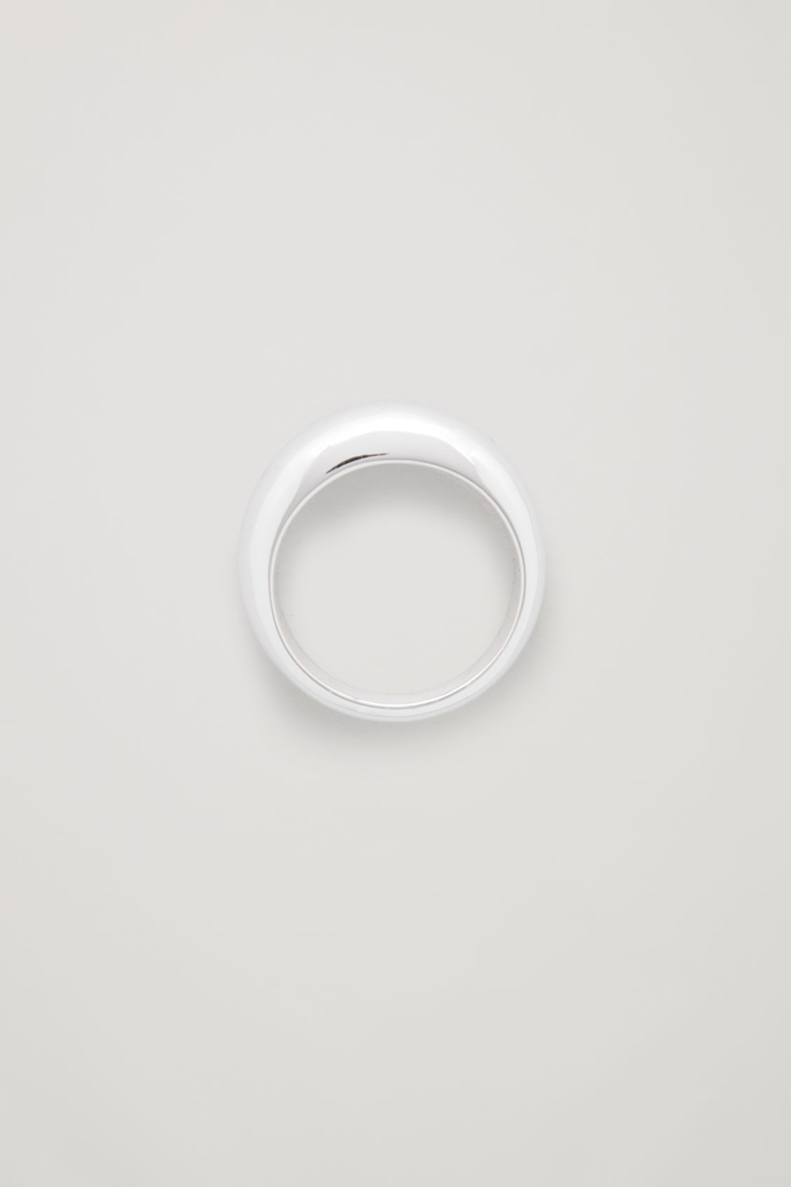 Front image of Cos curved sterling-silver ring  in silver