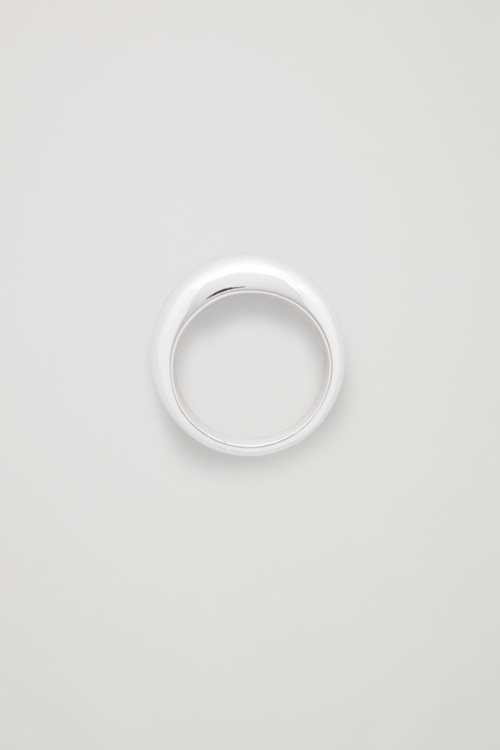 CURVED STERLING-SILVER RING