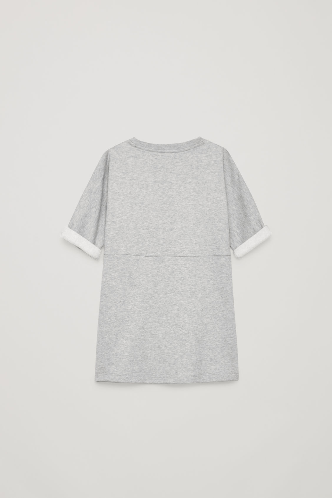 Side image of Cos circle-pocket jersey dress in grey