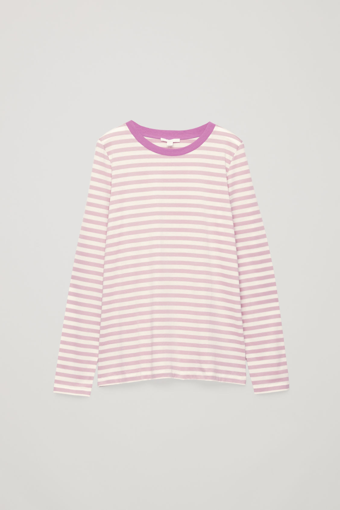 Front image of Cos straight-hem long-sleeved top in pink